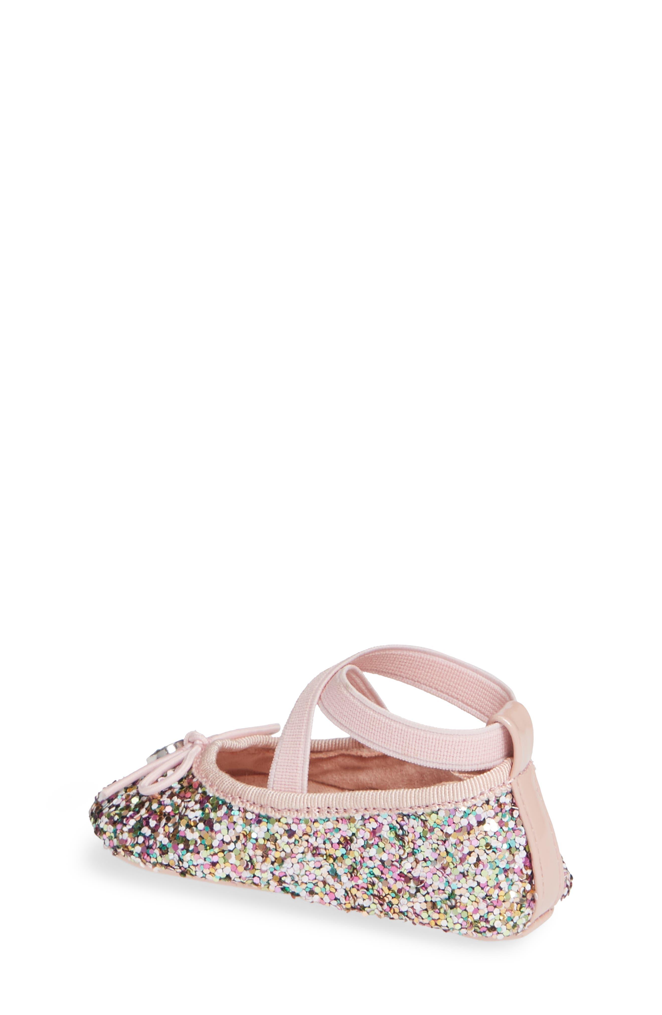 JESSICA SIMPSON, Glitter Mary Jane Crib Shoe, Alternate thumbnail 2, color, 650