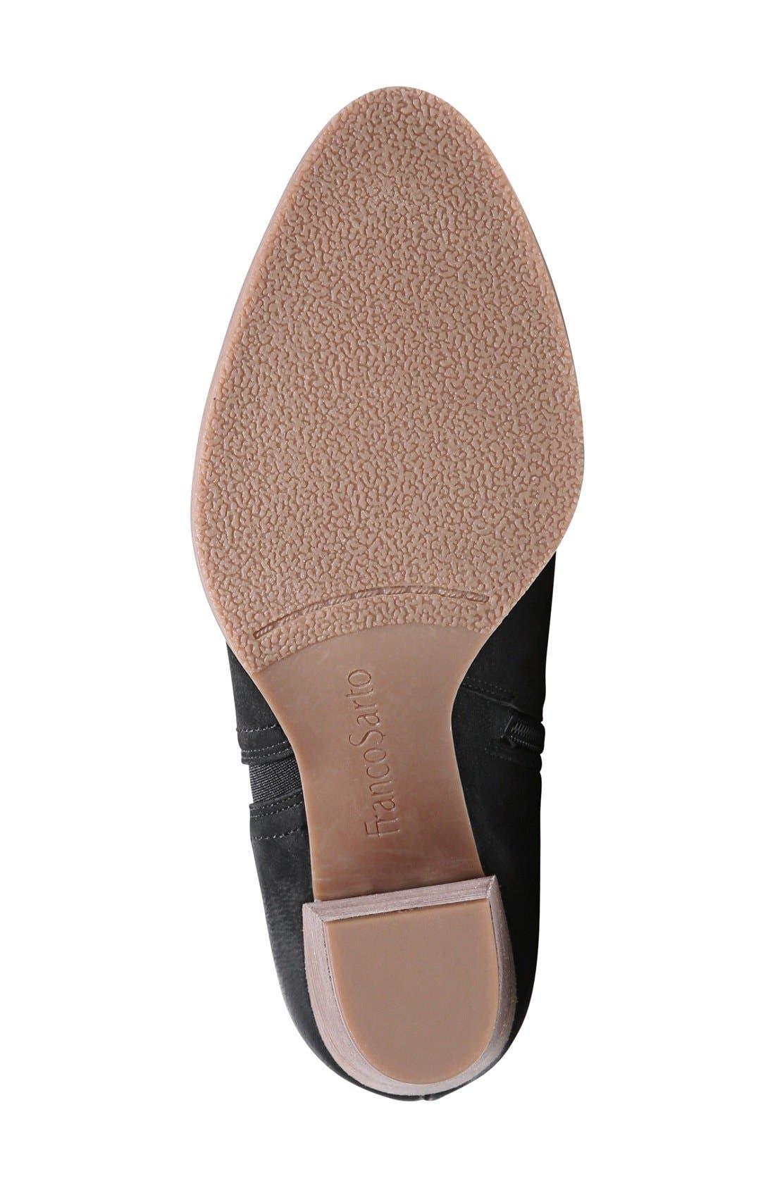 FRANCO SARTO, 'Dipali' Block Heel Bootie, Alternate thumbnail 4, color, 001