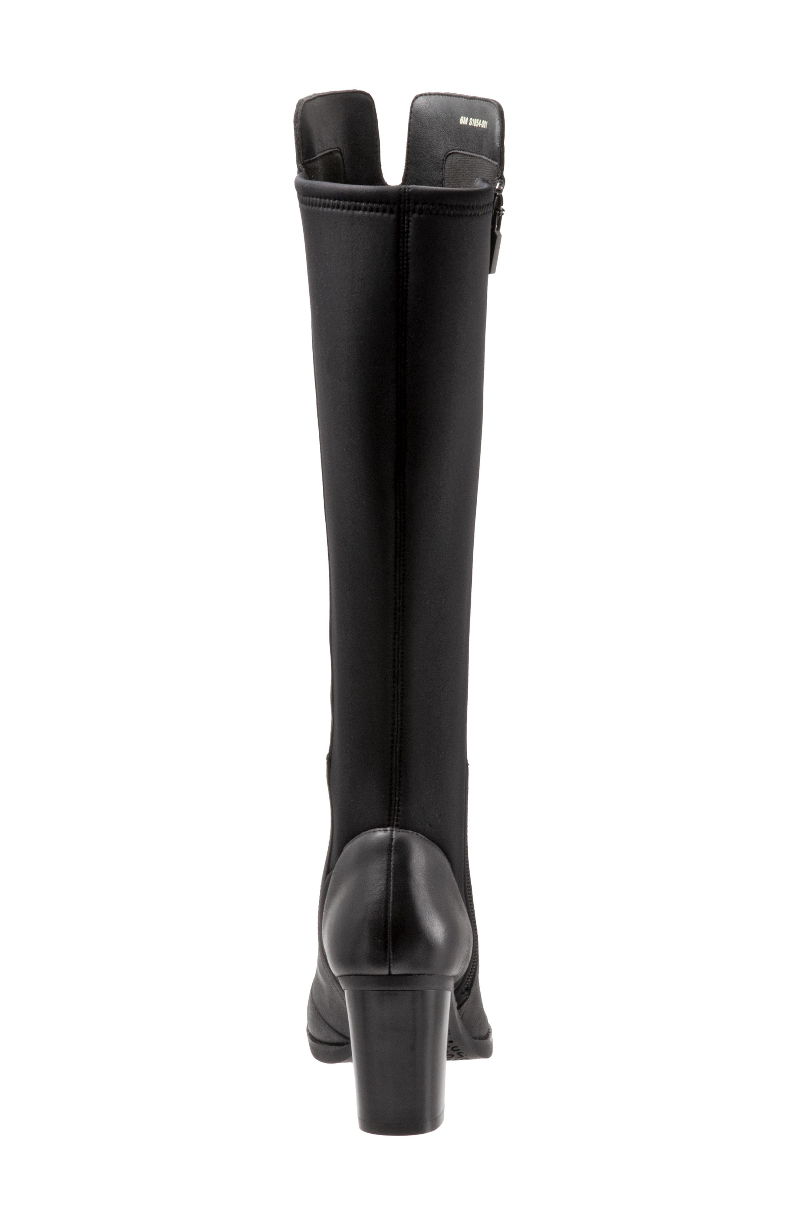 SOFTWALK<SUP>®</SUP>, Katia Knee High Boot, Alternate thumbnail 7, color, BLACK LEATHER