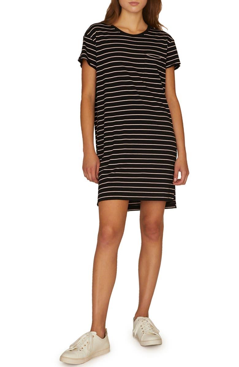 Sanctuary Dresses STRIPE ONE POCKET T-SHIRT DRESS