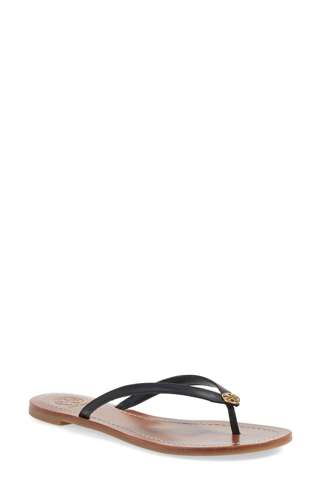 TORY BURCH, 'Terra' Flip Flop, Main thumbnail 1, color, 001