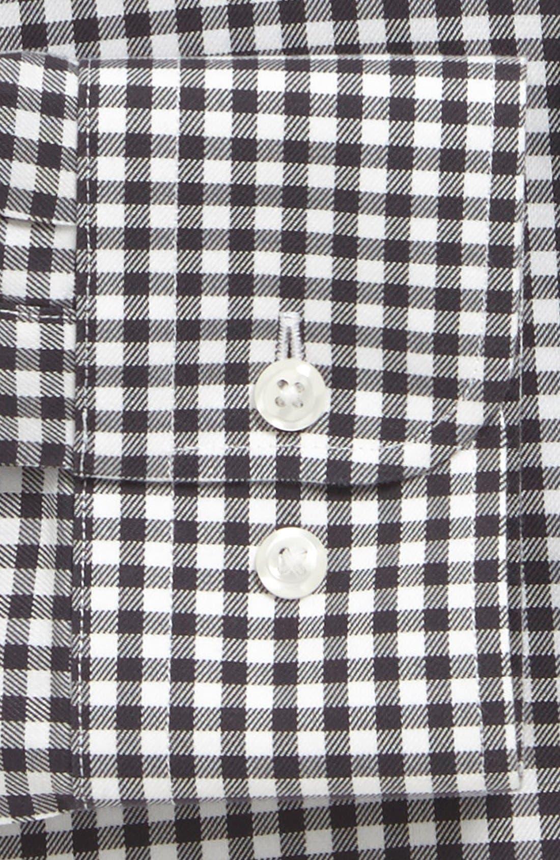 NORDSTROM MEN'S SHOP, Nordstrom Smartcare<sup>™</sup> Wrinkle Free Trim Fit Dress Shirt, Alternate thumbnail 2, color, 021