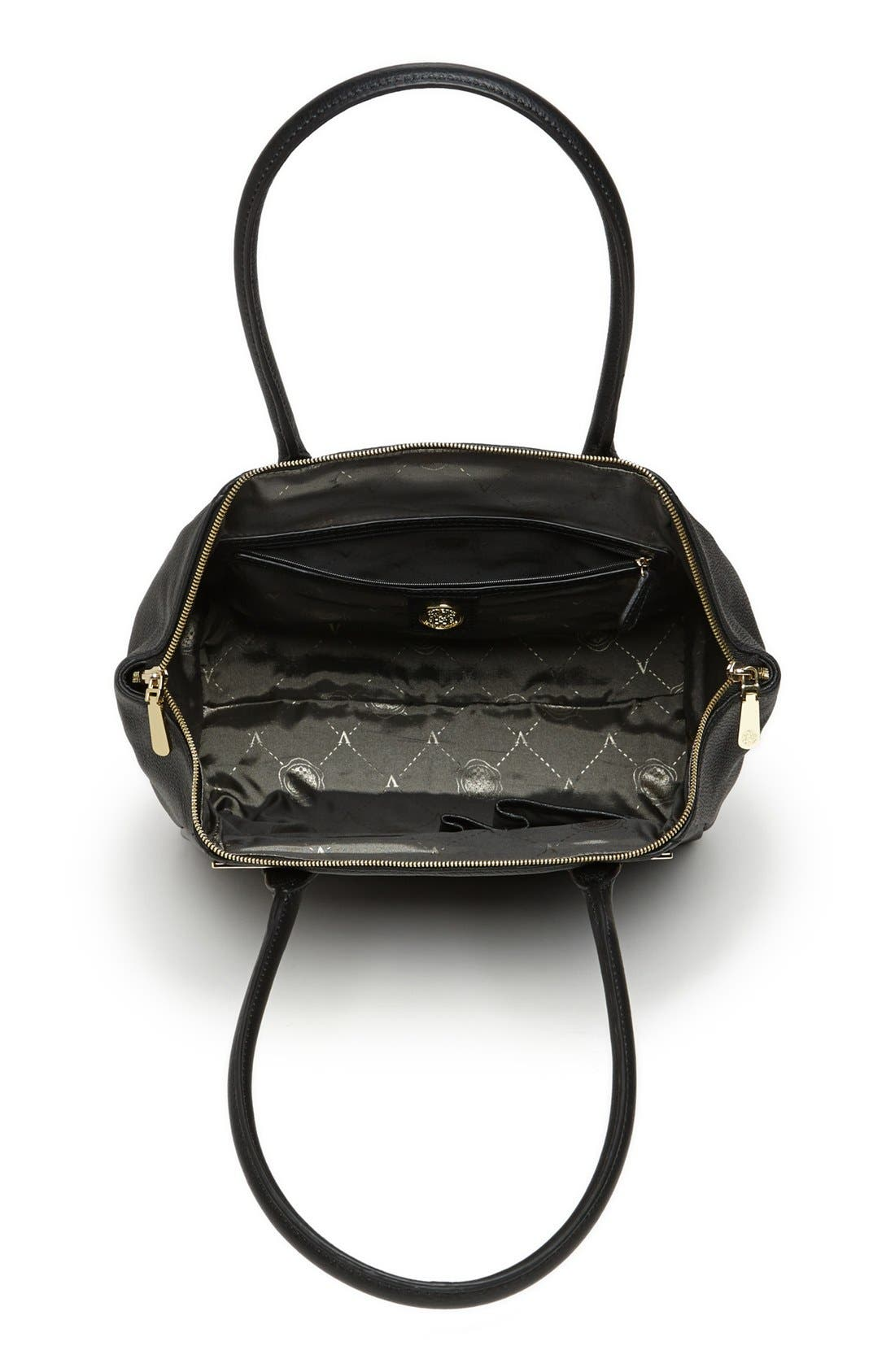 VINCE CAMUTO, 'Jace' Leather Tote, Alternate thumbnail 4, color, 002