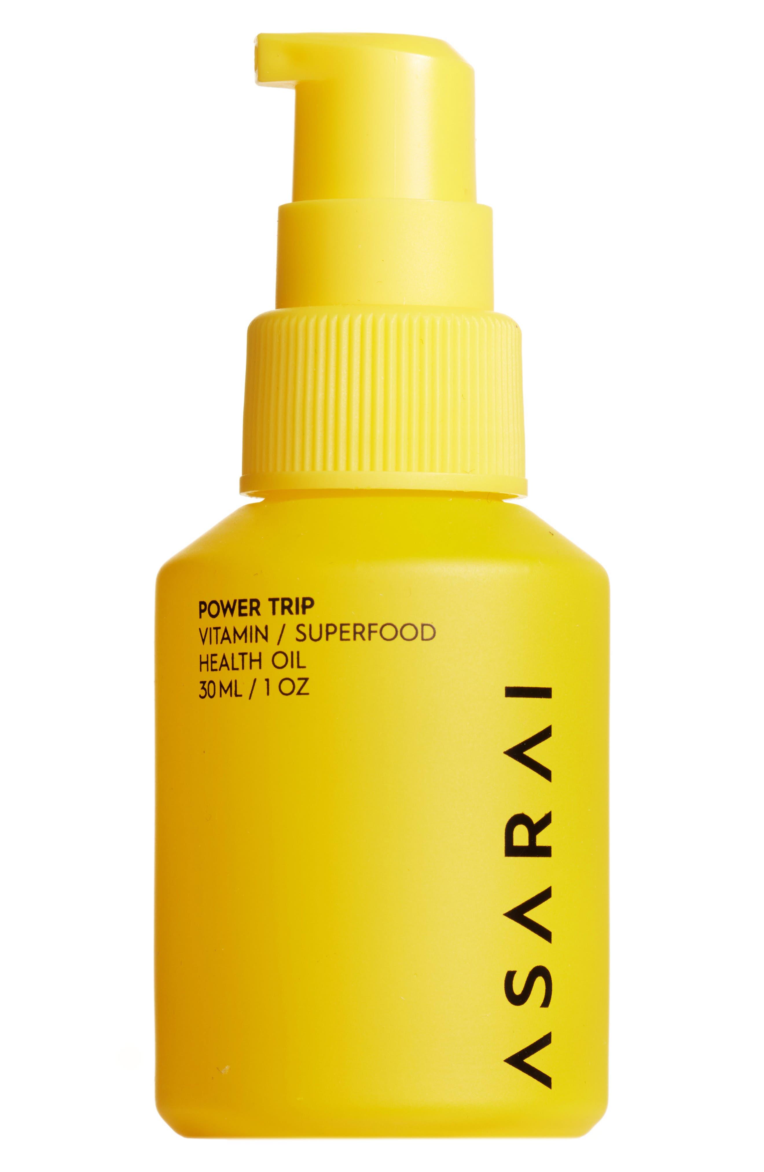 ASARAI Power Trip Vitamin Oil, Main, color, YELLOW