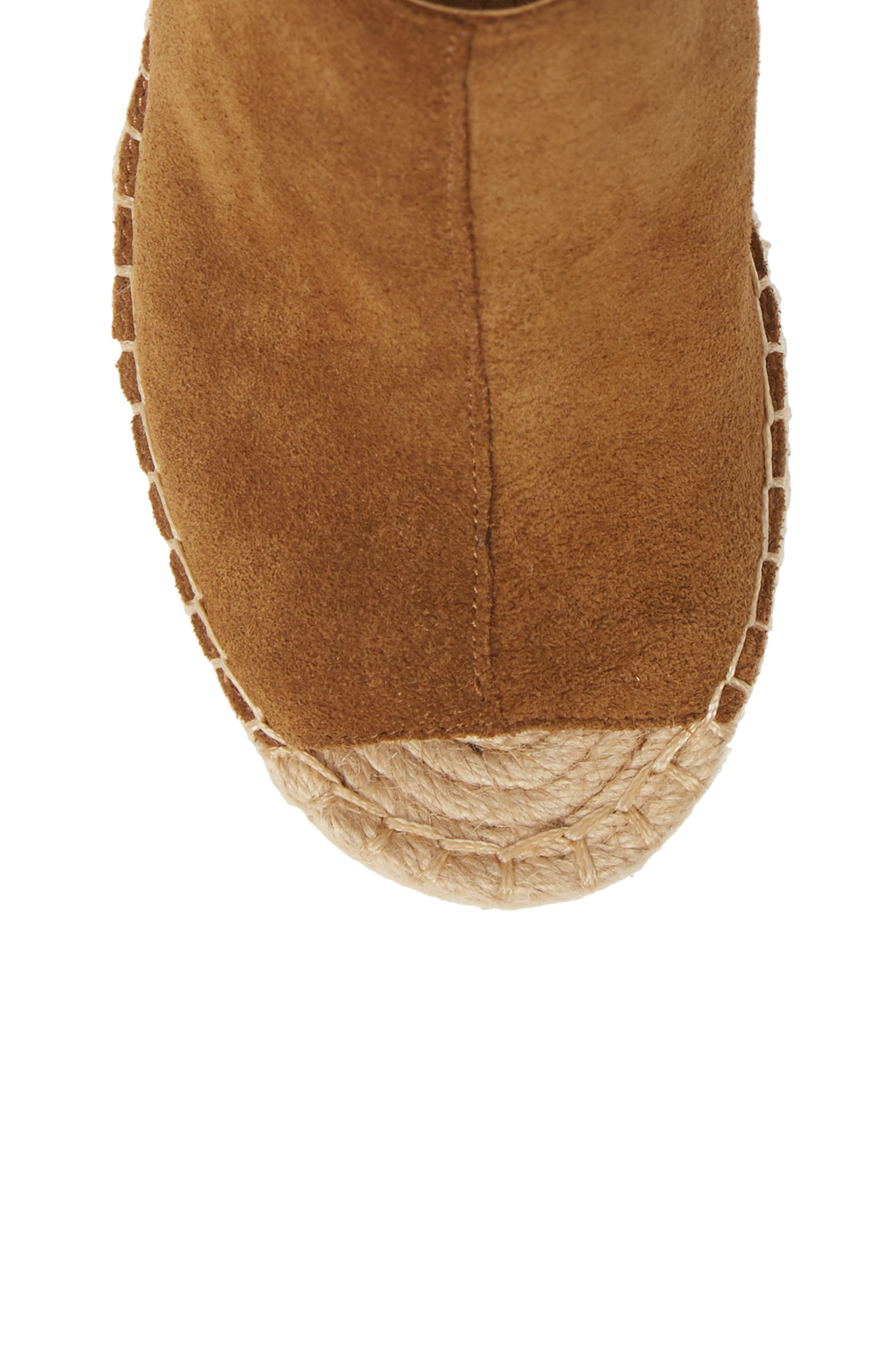 KENNETH COLE NEW YORK, 'Olivia' Espadrille Wedge Sandal, Alternate thumbnail 5, color, RUST SUEDE