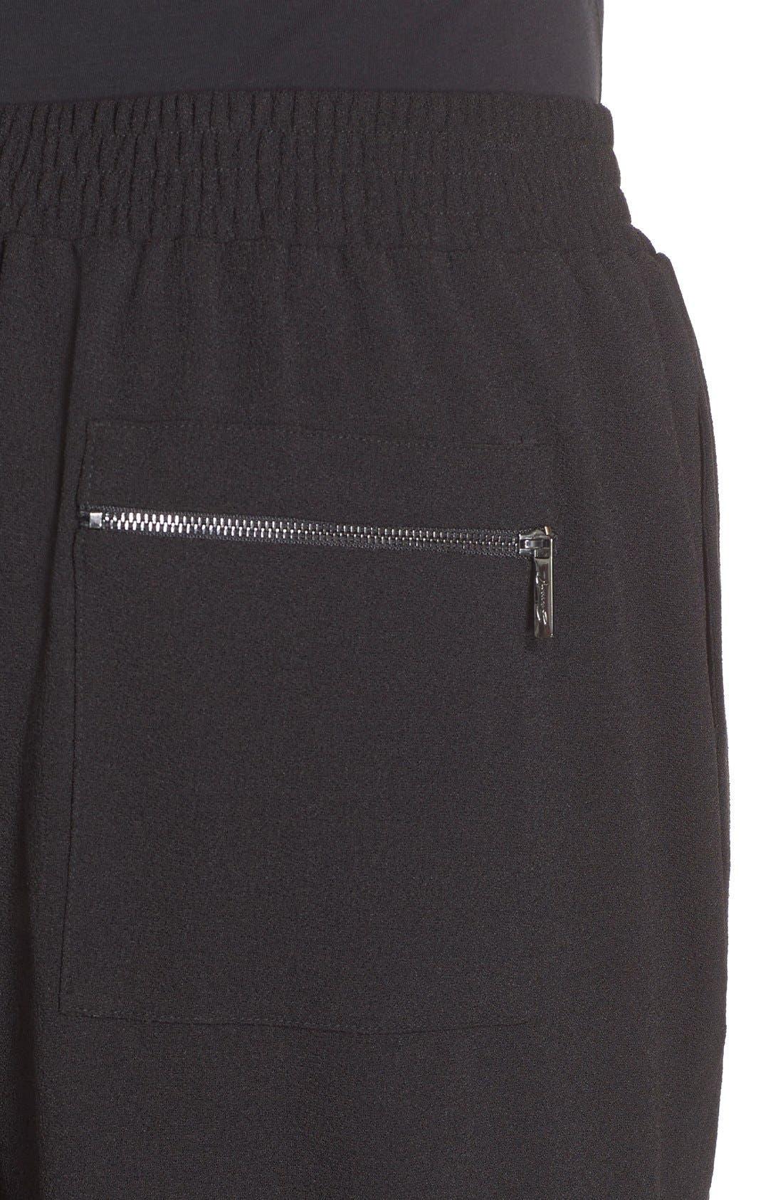 MELISSA MCCARTHY SEVEN7, Zip Pocket Harem Pants, Alternate thumbnail 5, color, 001