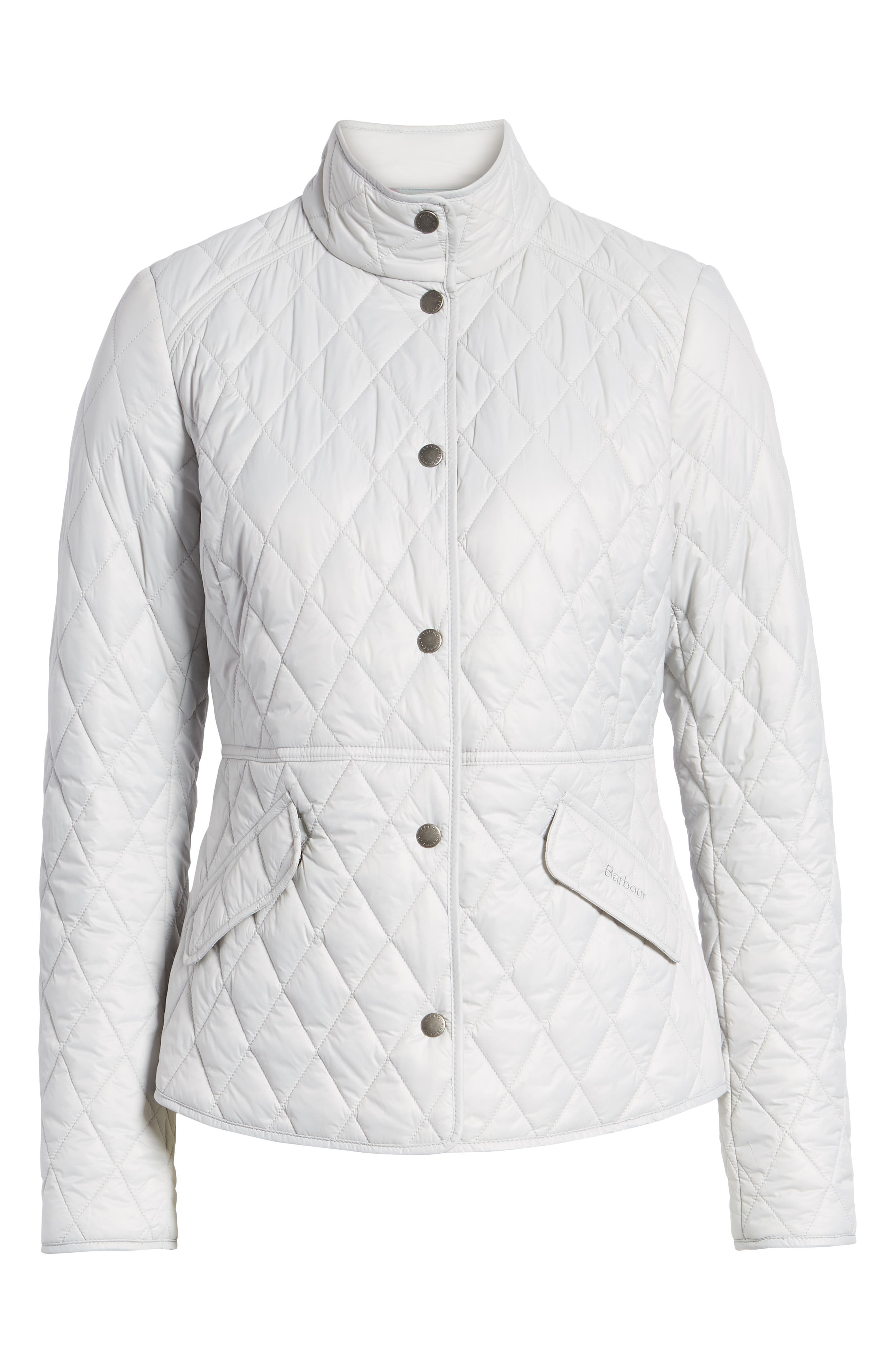 BARBOUR, Annis Quilted Jacket, Alternate thumbnail 6, color, 100