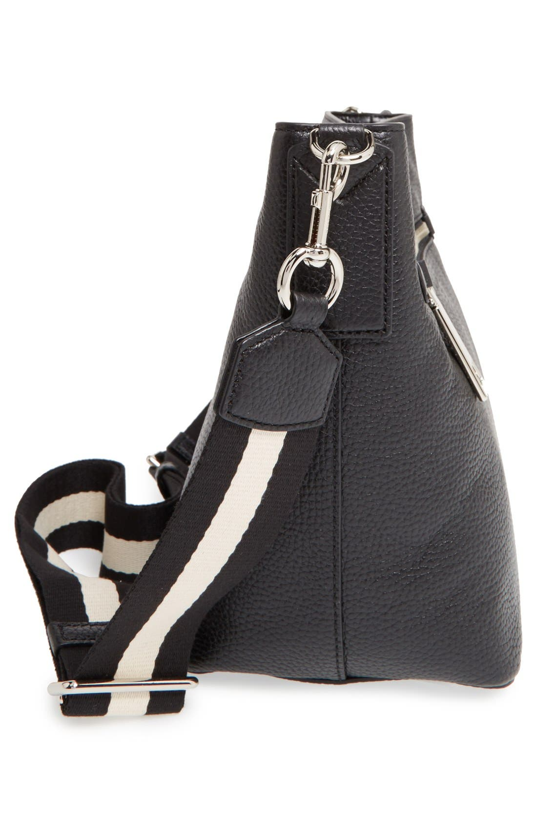 MARC JACOBS, 'Gotham' Leather Bucket Bag, Alternate thumbnail 6, color, 001