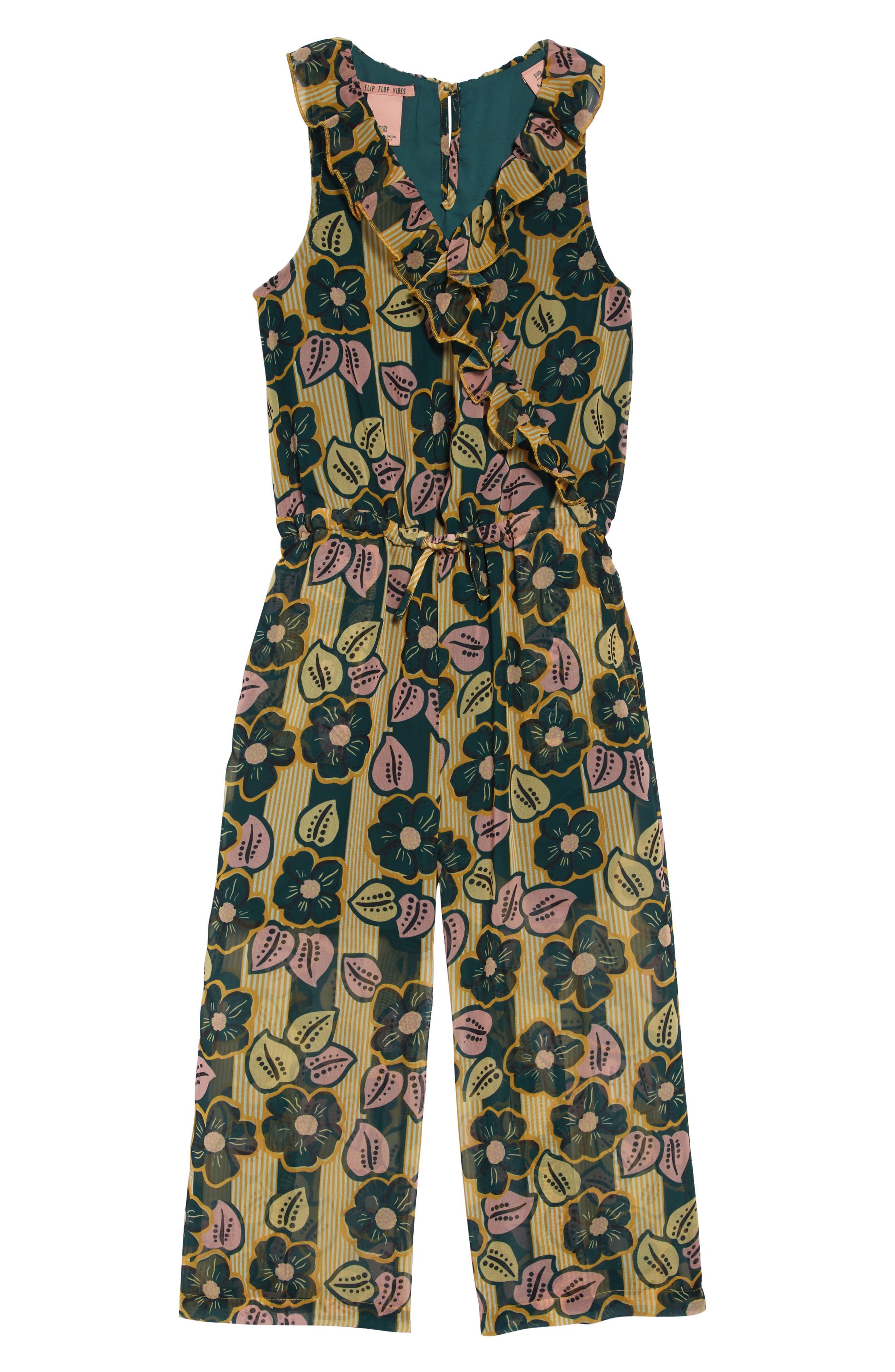 SCOTCH R'BELLE Floral Print Romper, Main, color, 222 F