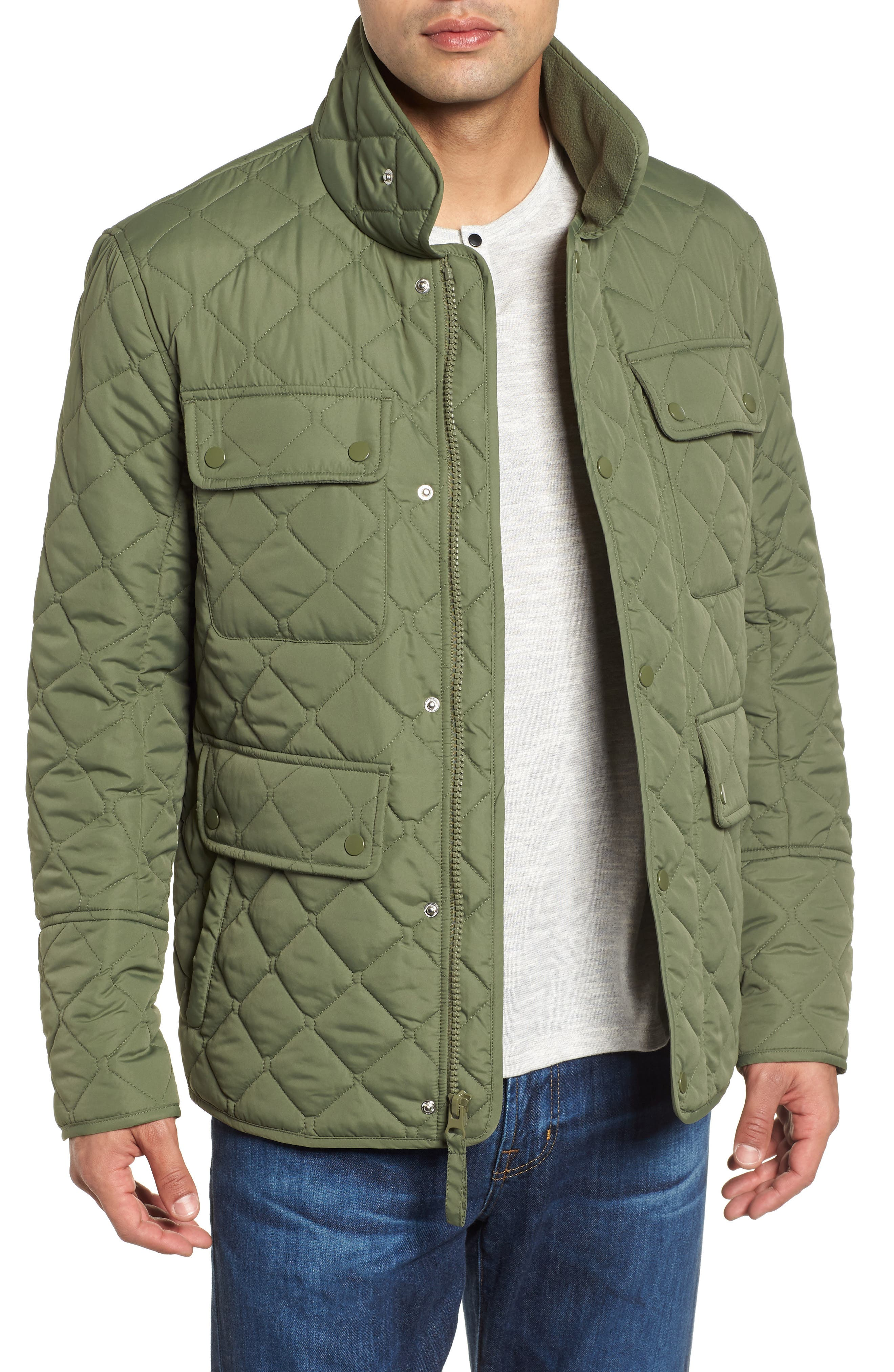 MARC NEW YORK, Canal Quilted Barn Jacket, Main thumbnail 1, color, OLIVE