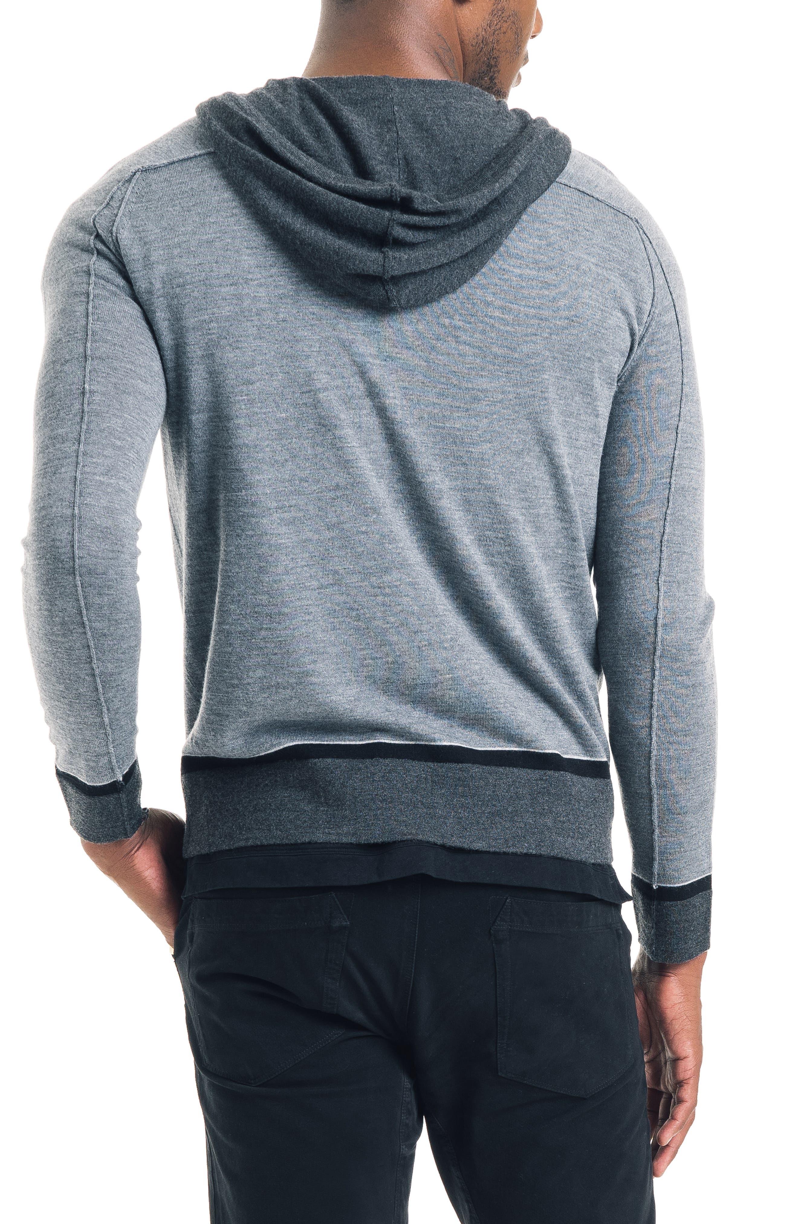 GOOD MAN BRAND, Modern Slim Fit Merino Wool Hoodie, Alternate thumbnail 2, color, 022