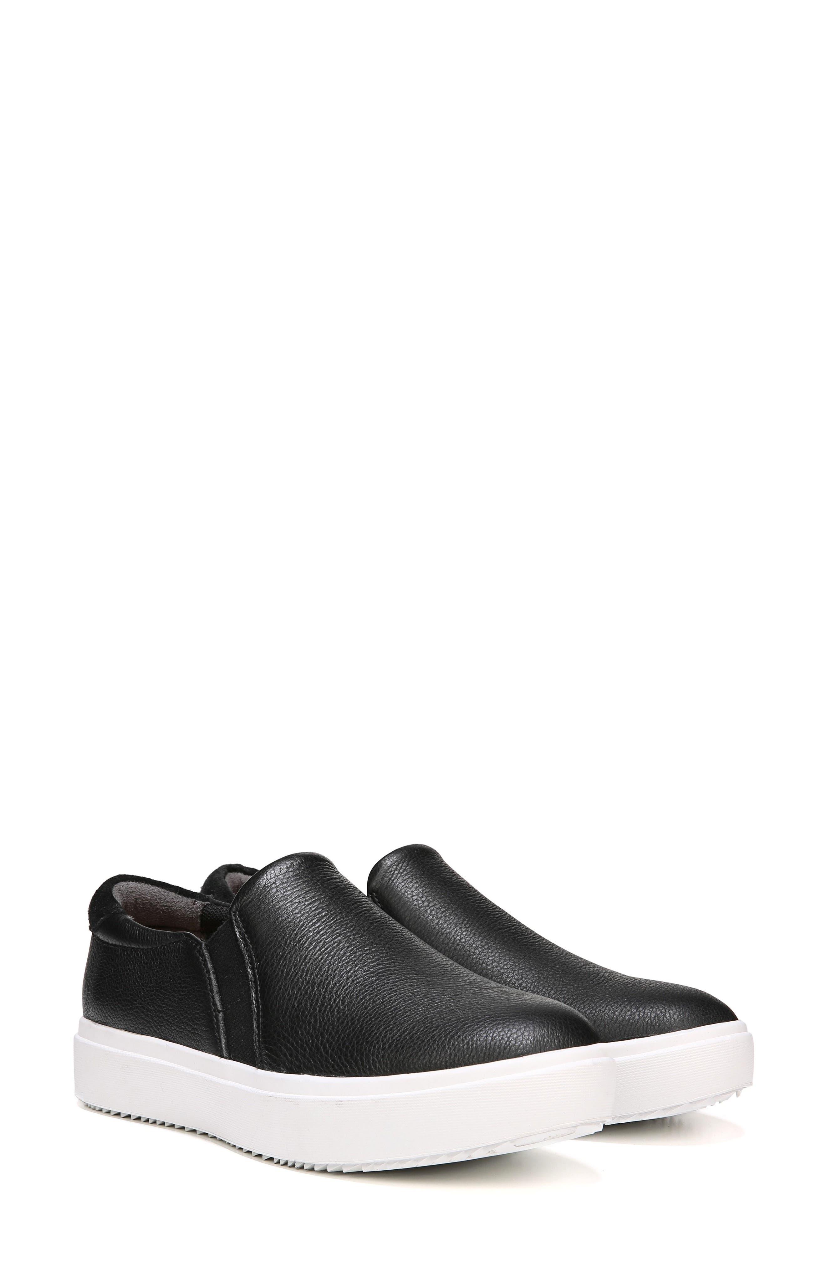 DR. SCHOLL'S, Leta Slip-On Sneaker, Alternate thumbnail 6, color, BLACK LEATHER