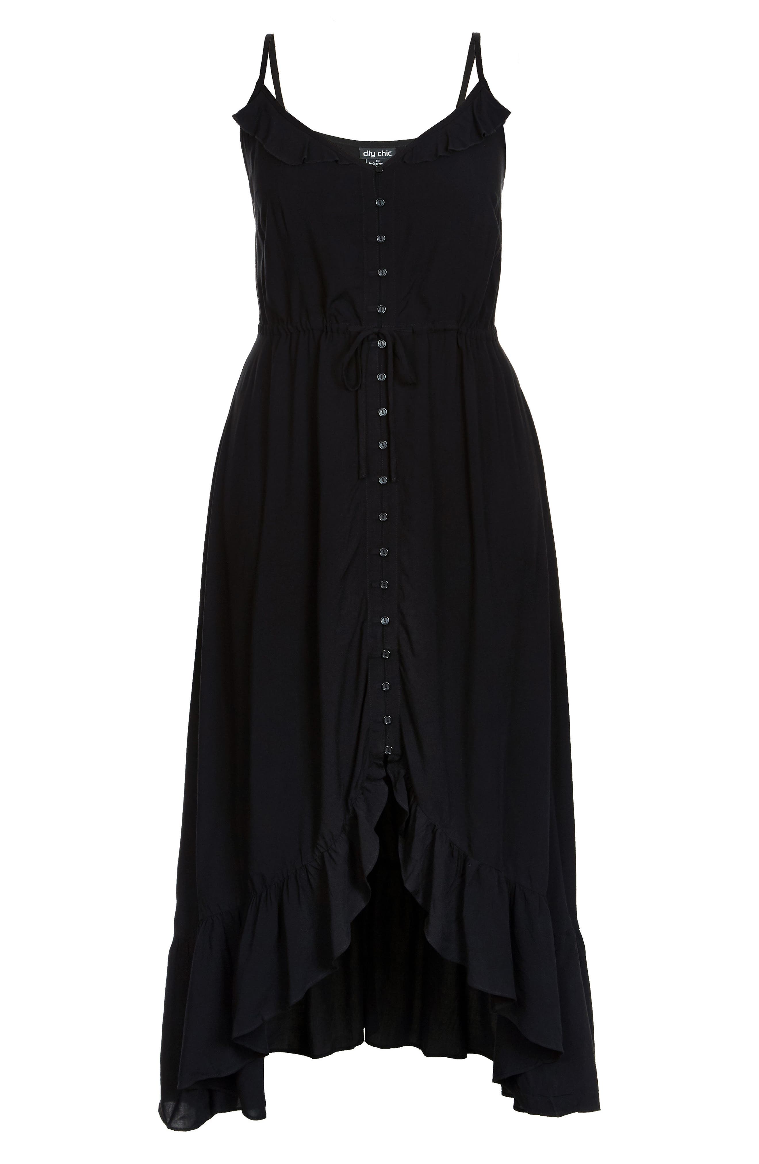 CITY CHIC, Aruba Maxi Dress, Alternate thumbnail 3, color, BLACK