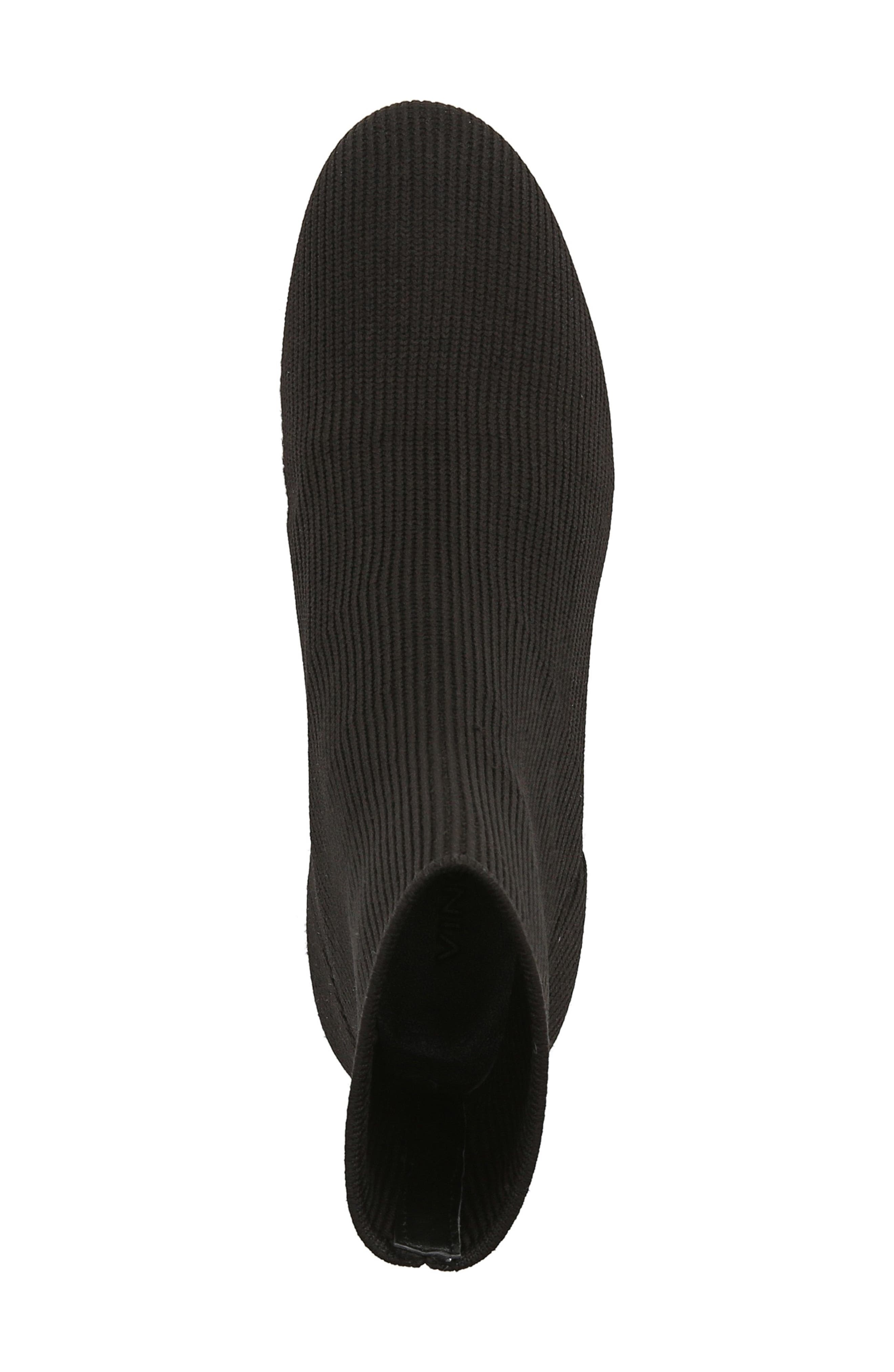 VINCE, Tasha Sock Bootie, Alternate thumbnail 5, color, BLACK