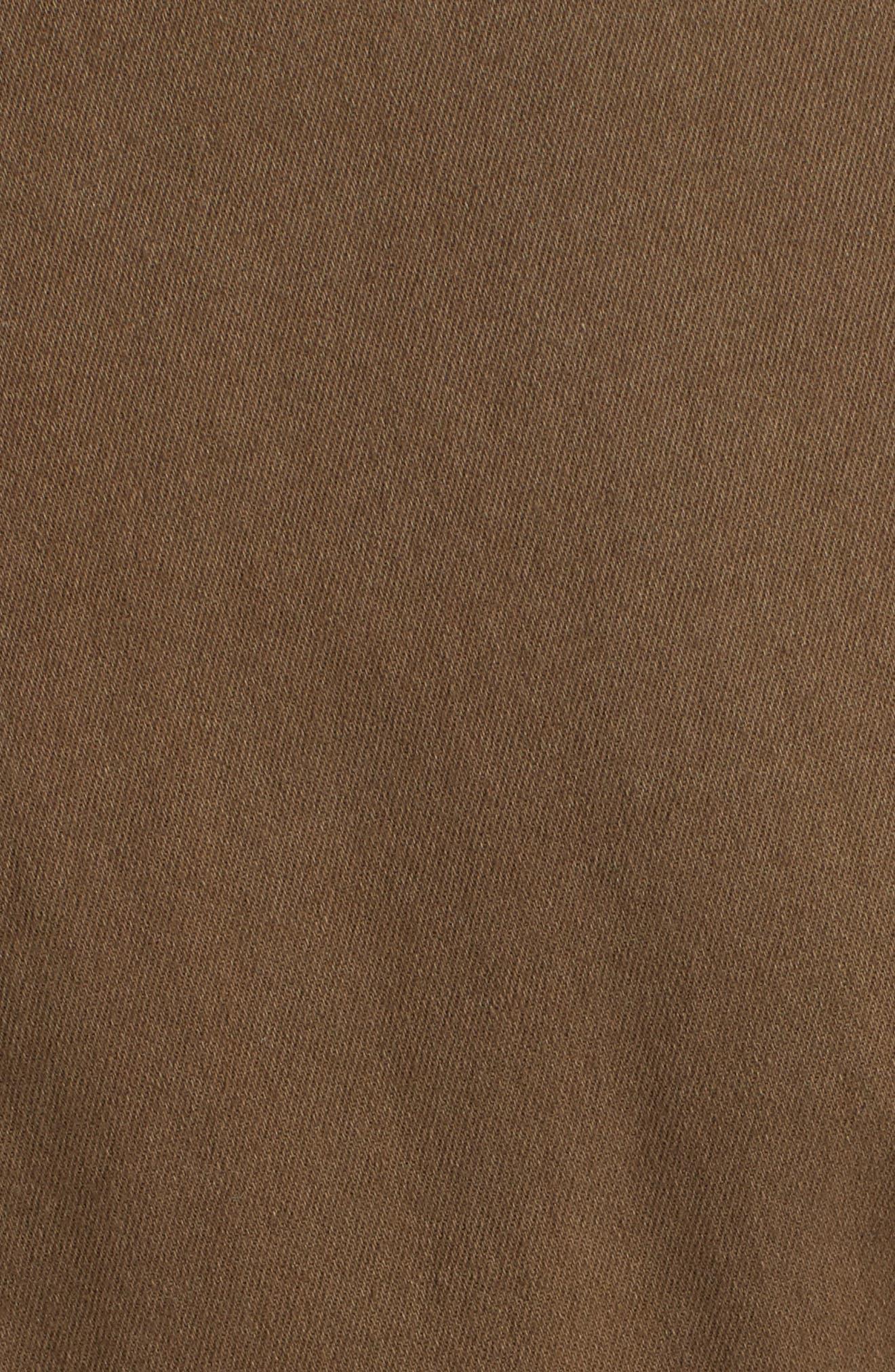 PROENZA SCHOULER, PSWL Stretch Twill Utility Jumpsuit, Alternate thumbnail 6, color, DARK FATIGUE