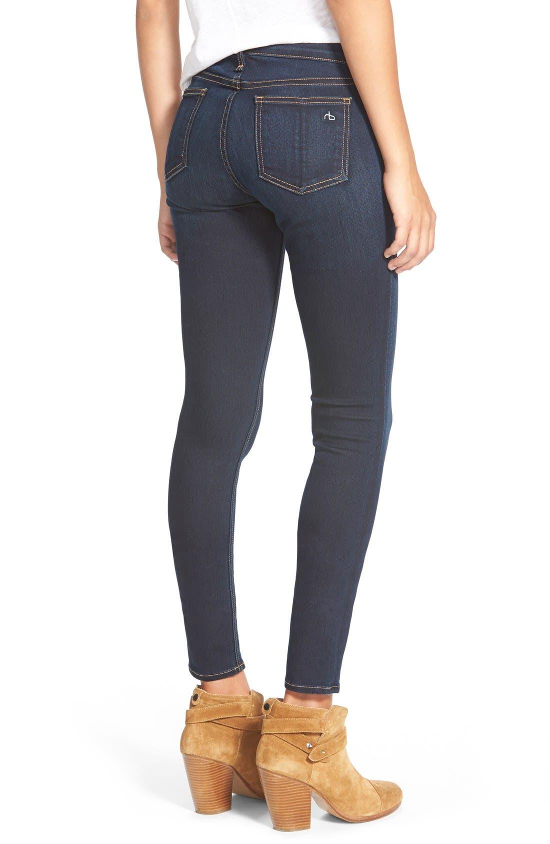 RAG & BONE, Skinny Stretch Jeans, Alternate thumbnail 10, color, BEDFORD