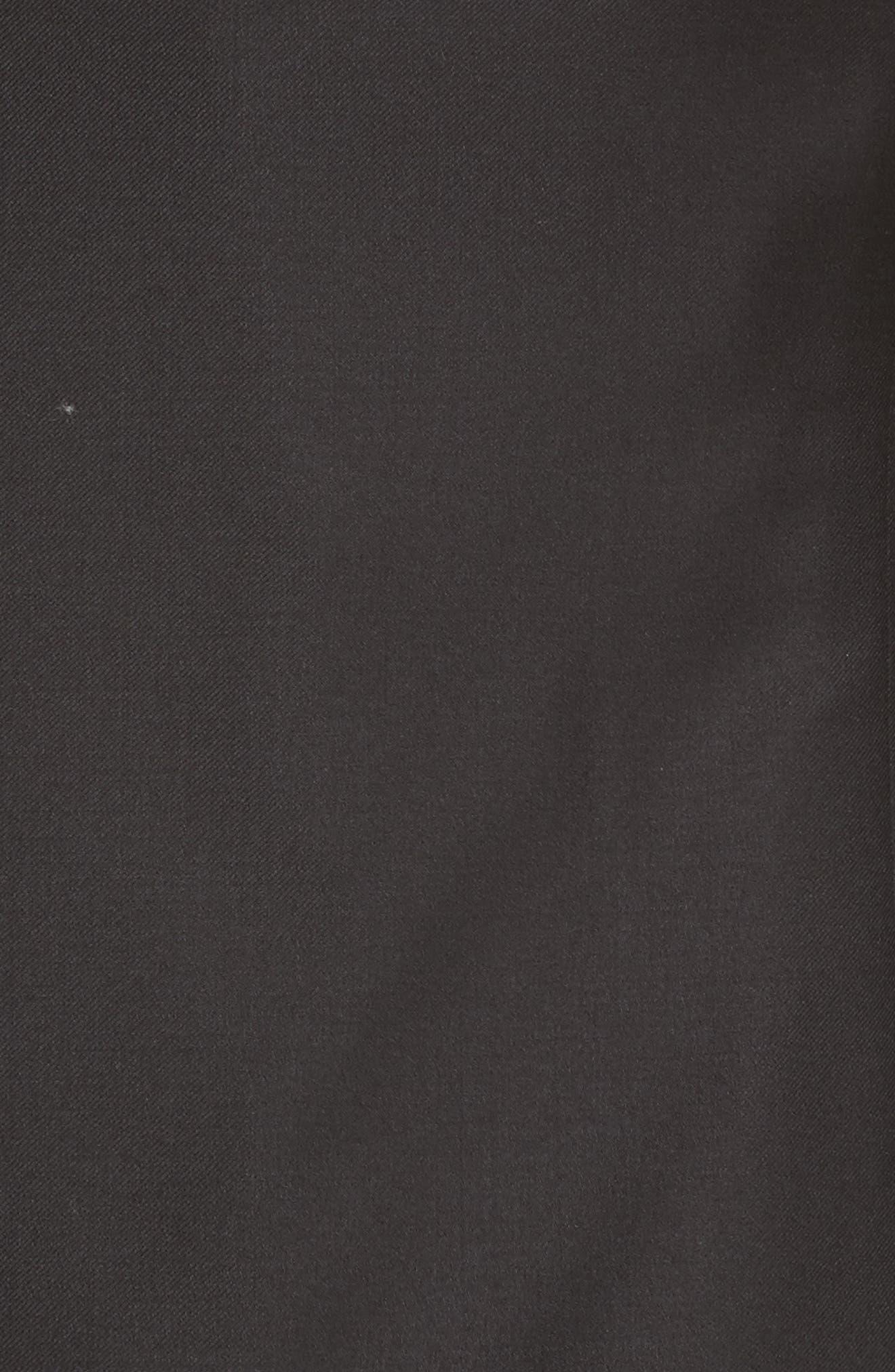 EMPORIO ARMANI, Trim Fit Wool Tuxedo, Alternate thumbnail 7, color, BLACK