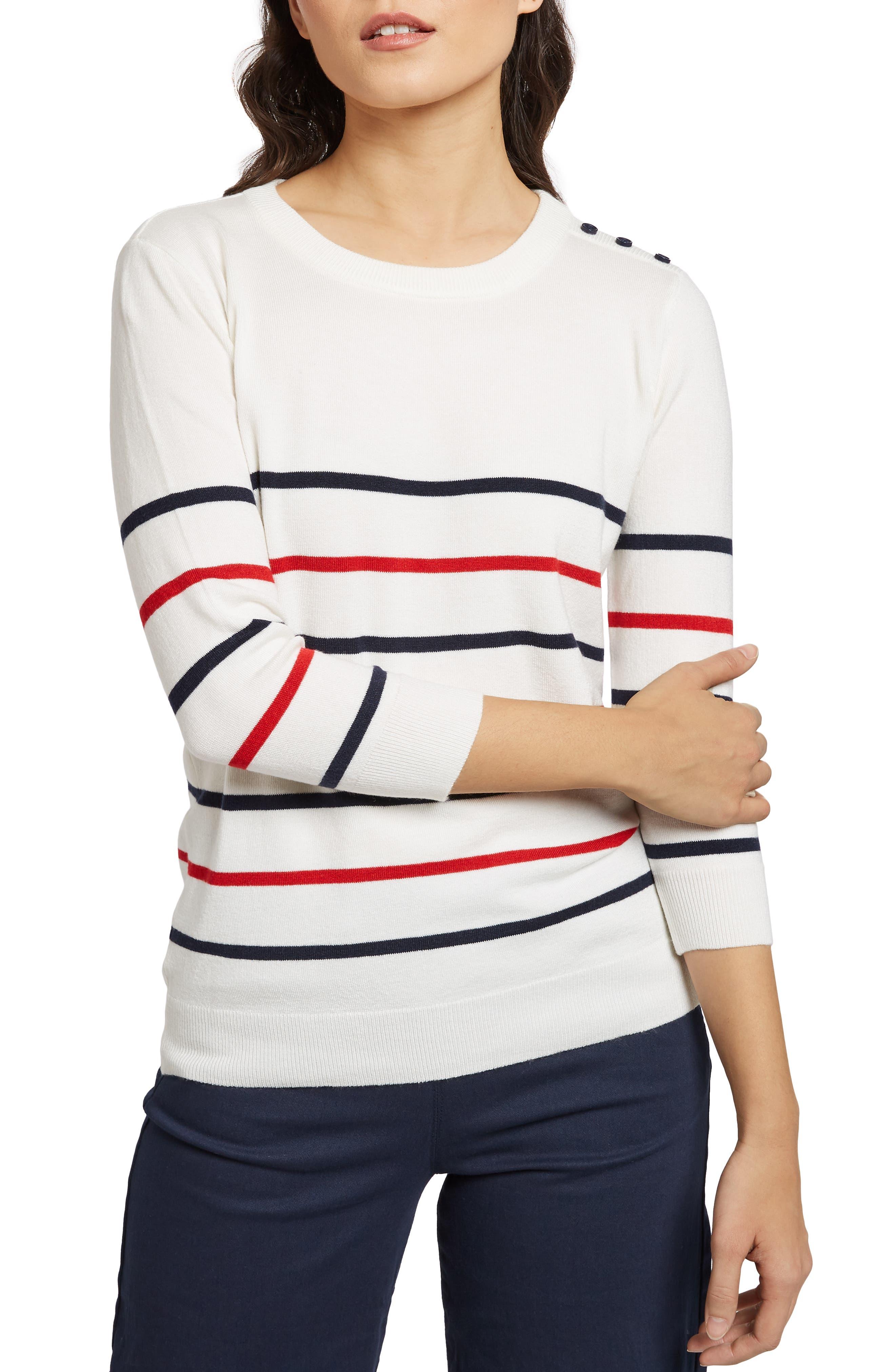 MODCLOTH Charter School Stripe Sweater, Main, color, 901