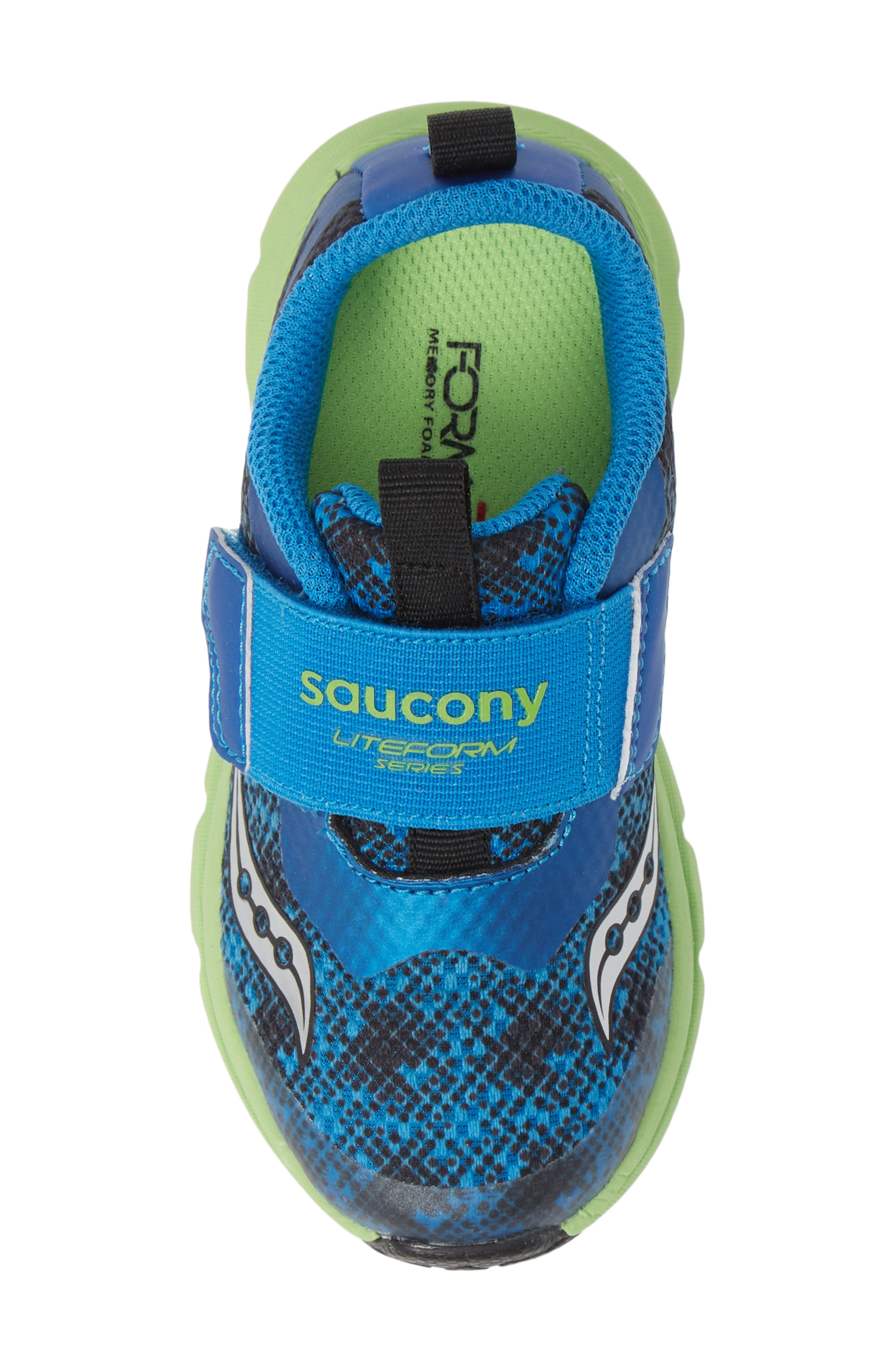 SAUCONY, Baby Liteform Sneaker, Alternate thumbnail 5, color, BLUE/ GREEN