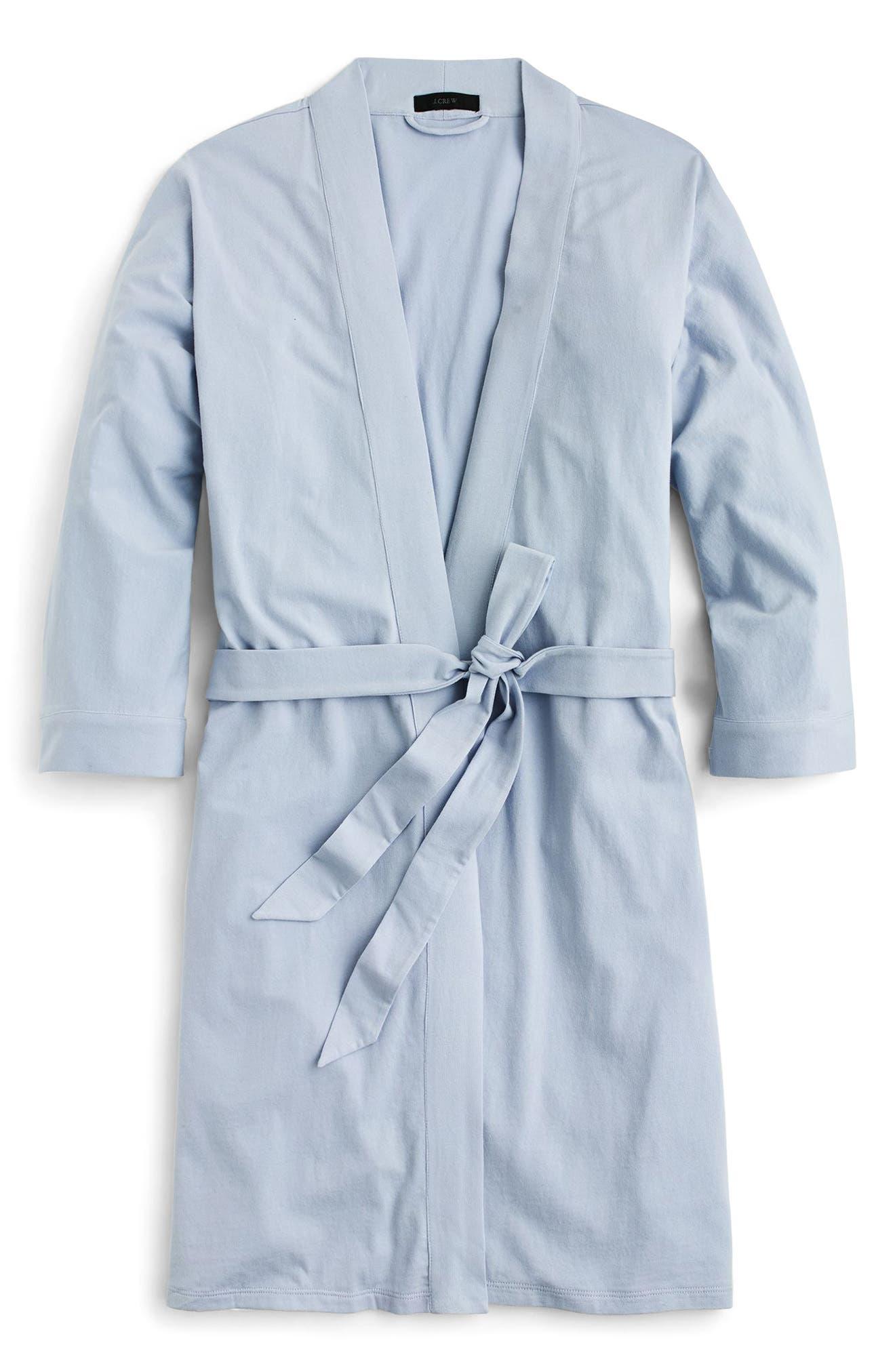 J.CREW, Cotton Robe, Alternate thumbnail 4, color, 400