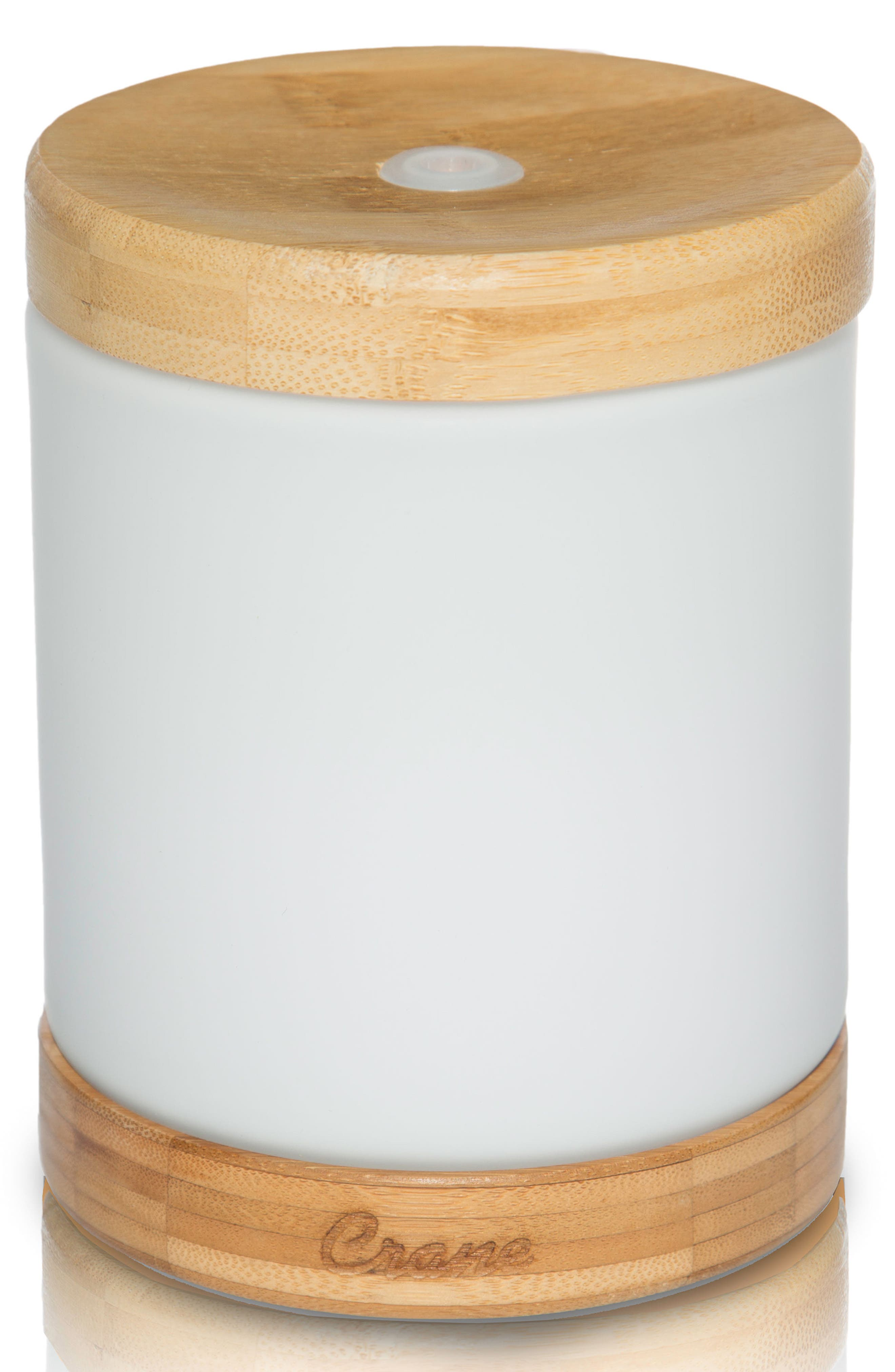 CRANE AIR Ultrasonic Cool Mist Soothing Aroma Diffuser, Main, color, WHITE