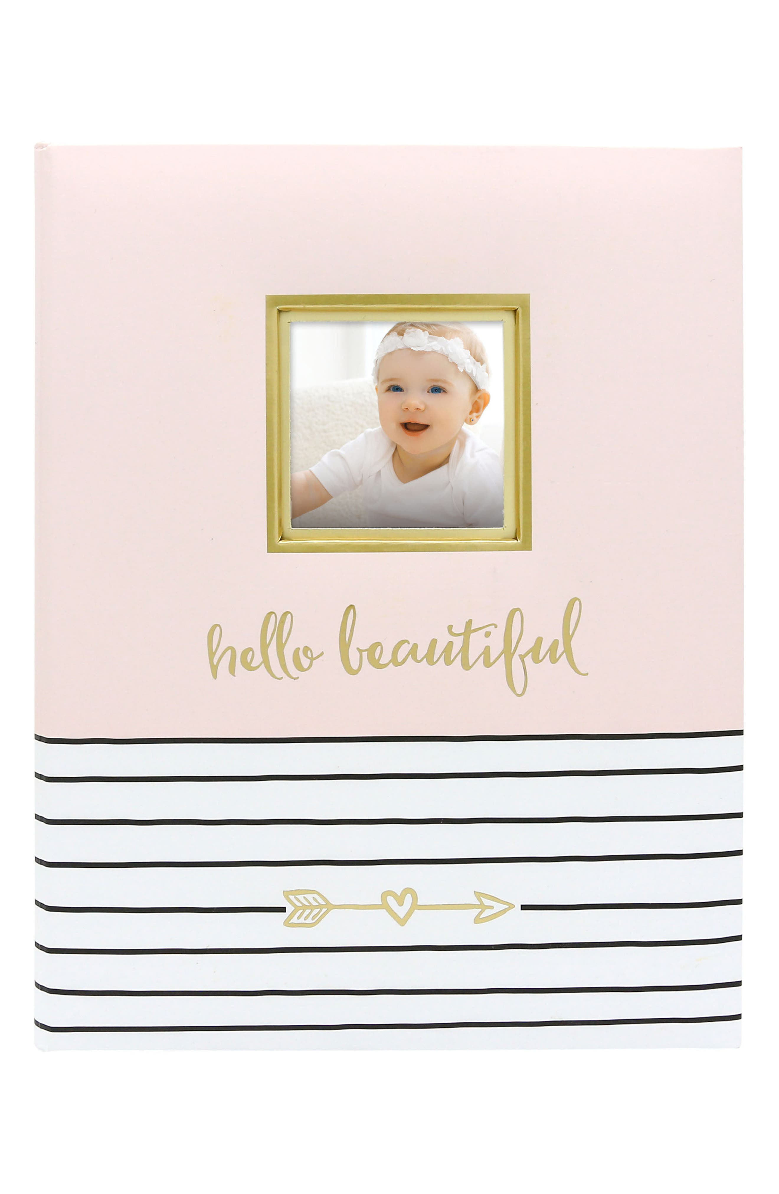 PEARHEAD Hello Baby Book, Main, color, PINK