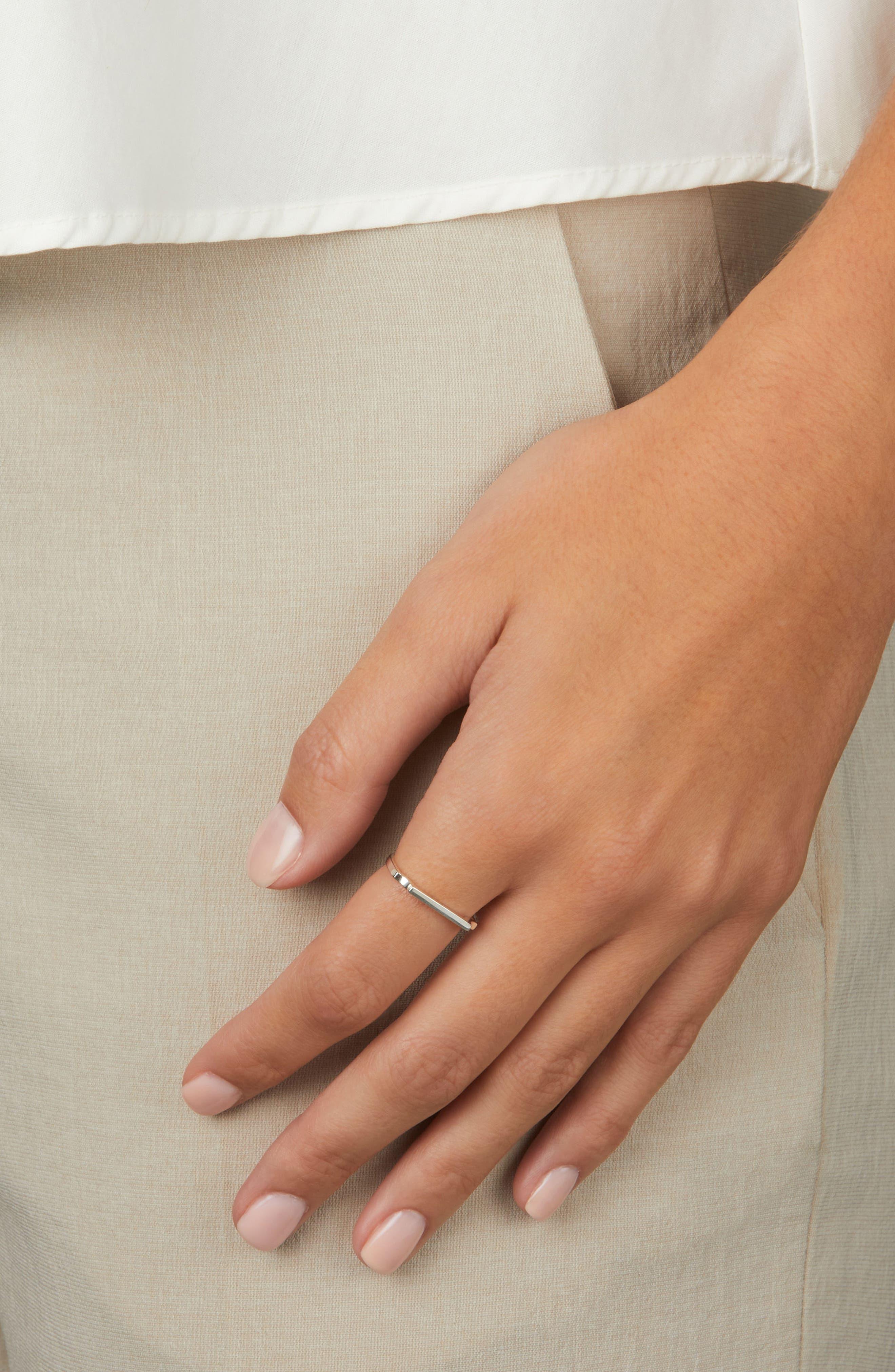 MONICA VINADER, Signature Thin Ring, Alternate thumbnail 4, color, SILVER