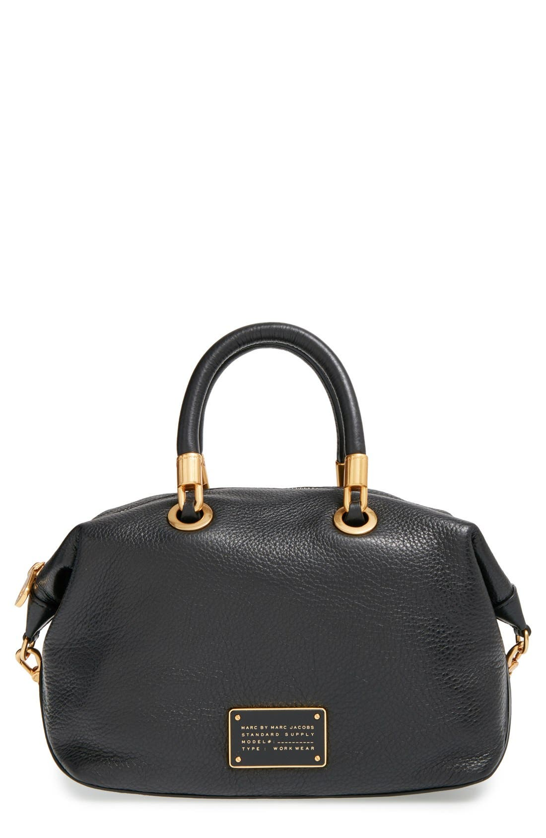 MARC JACOBS, MARC BY MARC JACOBS 'New Too Hot to Handle' Leather Satchel, Main thumbnail 1, color, 001