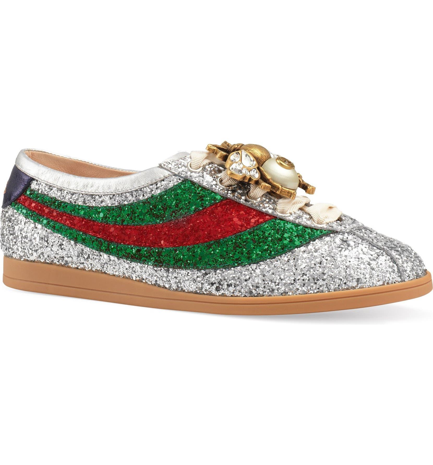 03c62a2b28f Gucci Falacer Glitter Sneaker (Women)