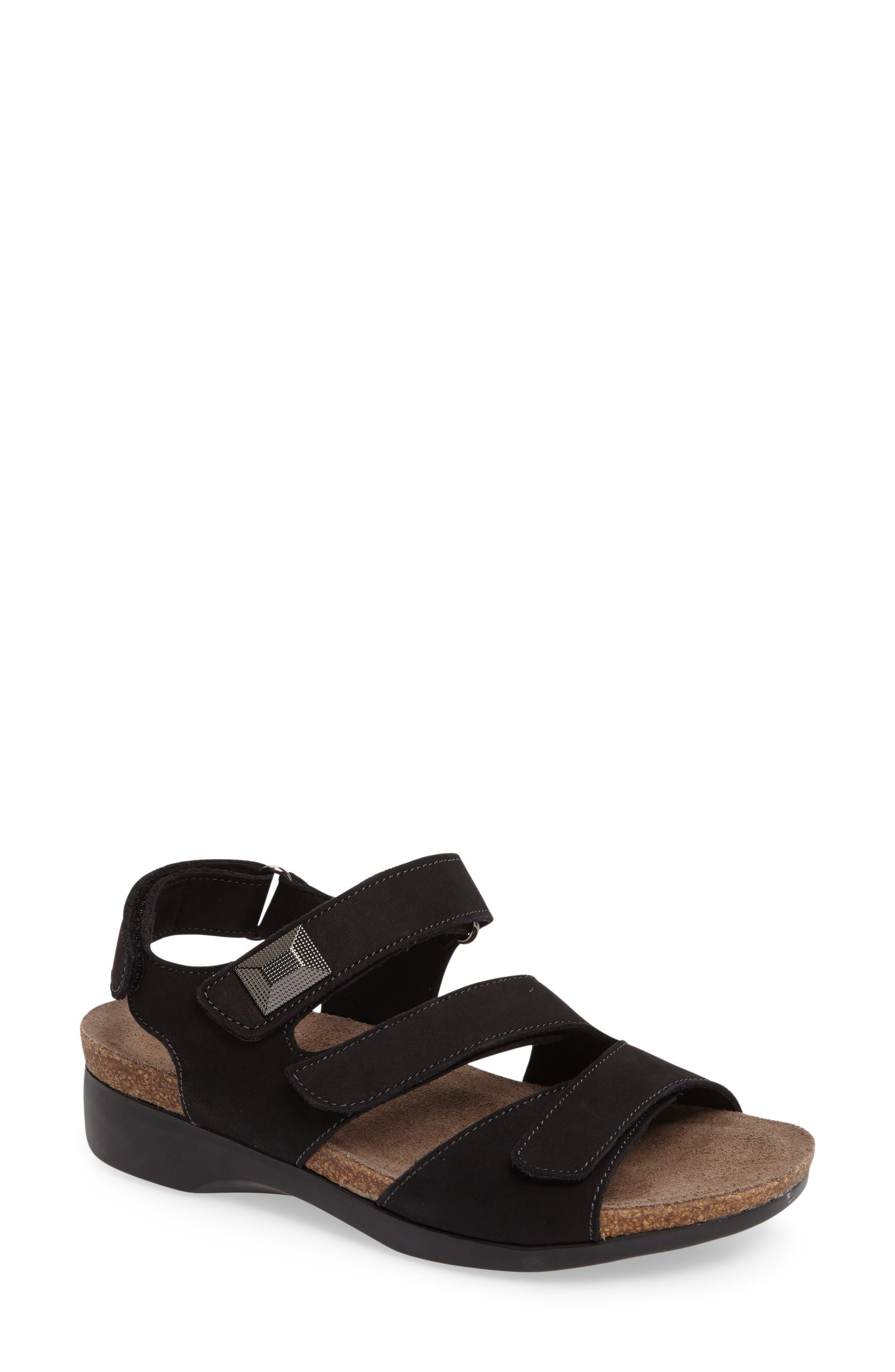 MUNRO Antila Sandal, Main, color, BLACK