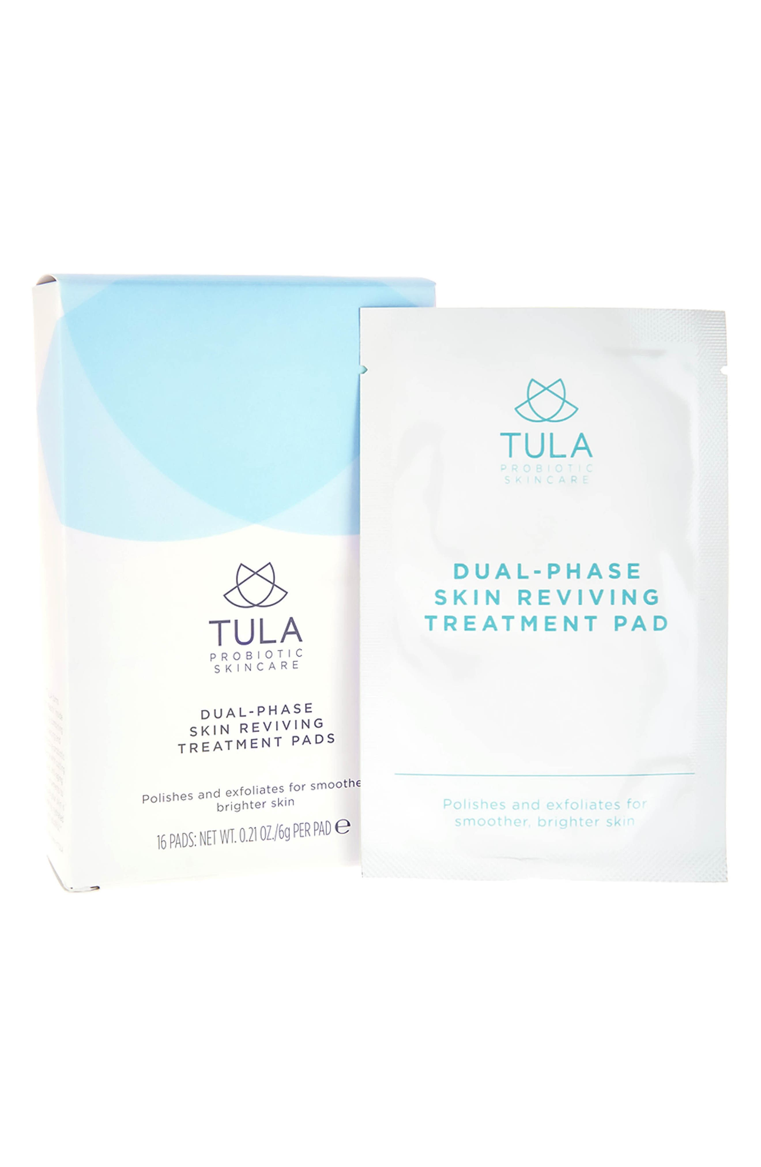 TULA PROBIOTIC SKINCARE, Dual Phase Skin Reviving Treatment Pads, Main thumbnail 1, color, NO COLOR