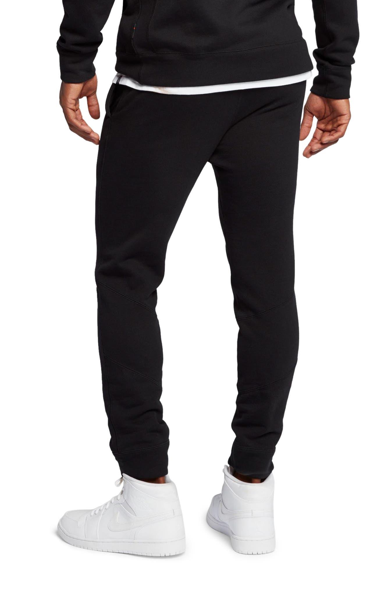 JORDAN, Wings Fleece Pants, Alternate thumbnail 2, color, BLACK/ BLACK