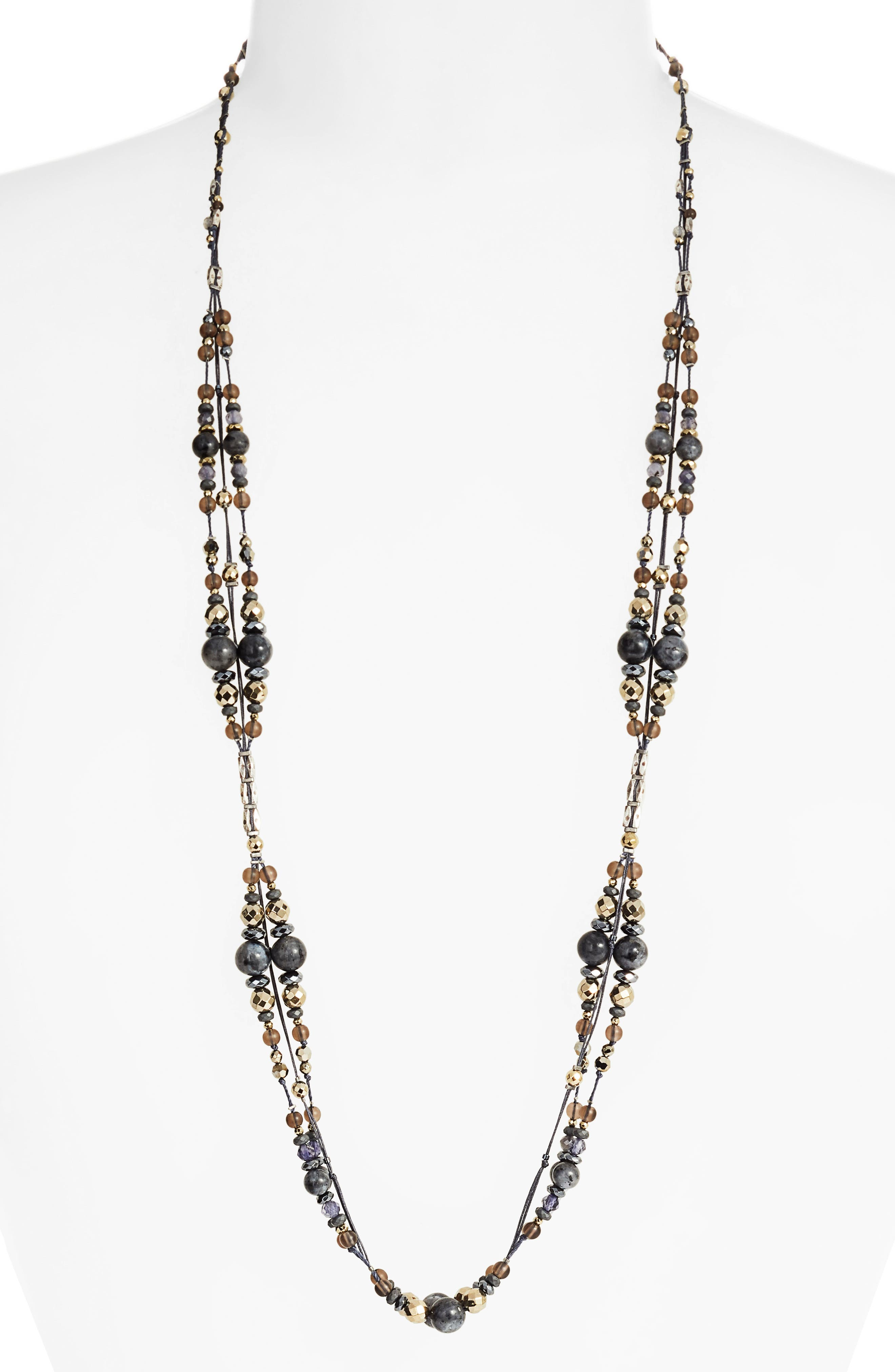 CHAN LUU Mixed Bead Necklace, Main, color, 072