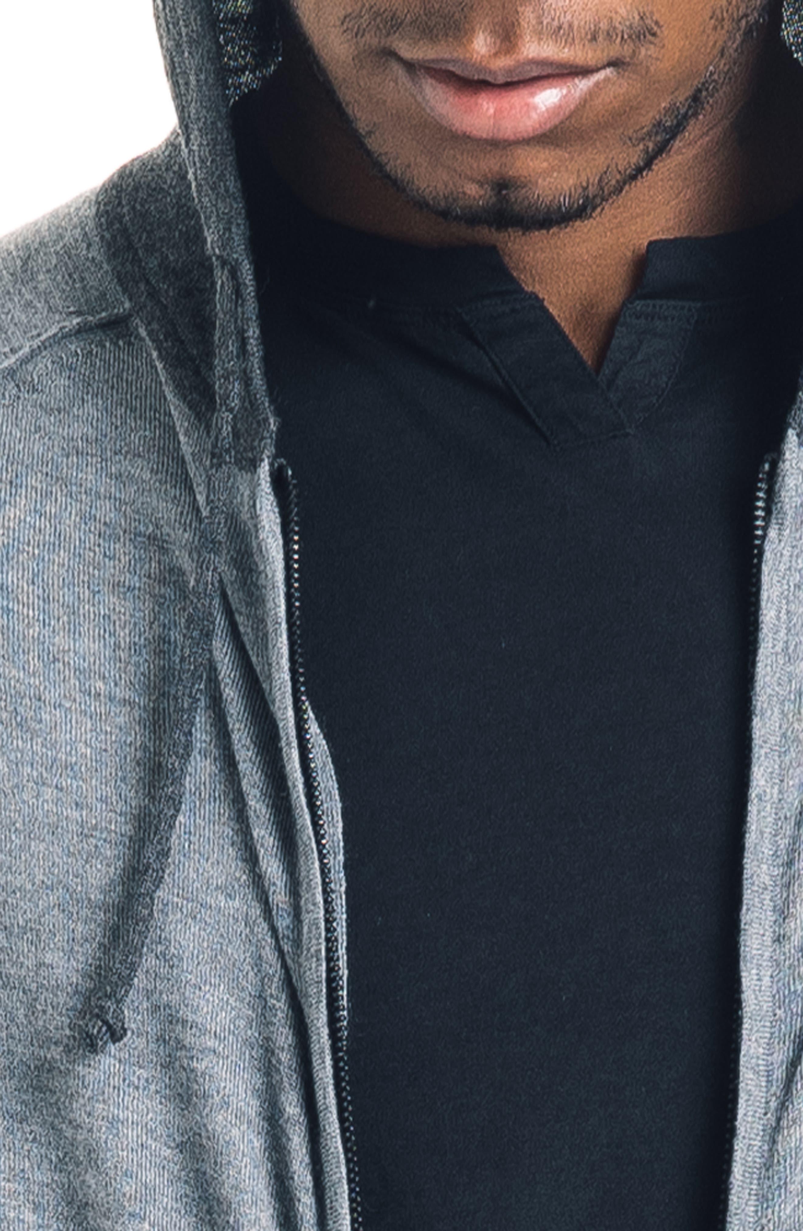 GOOD MAN BRAND, Modern Slim Fit Merino Wool Hoodie, Alternate thumbnail 4, color, 022