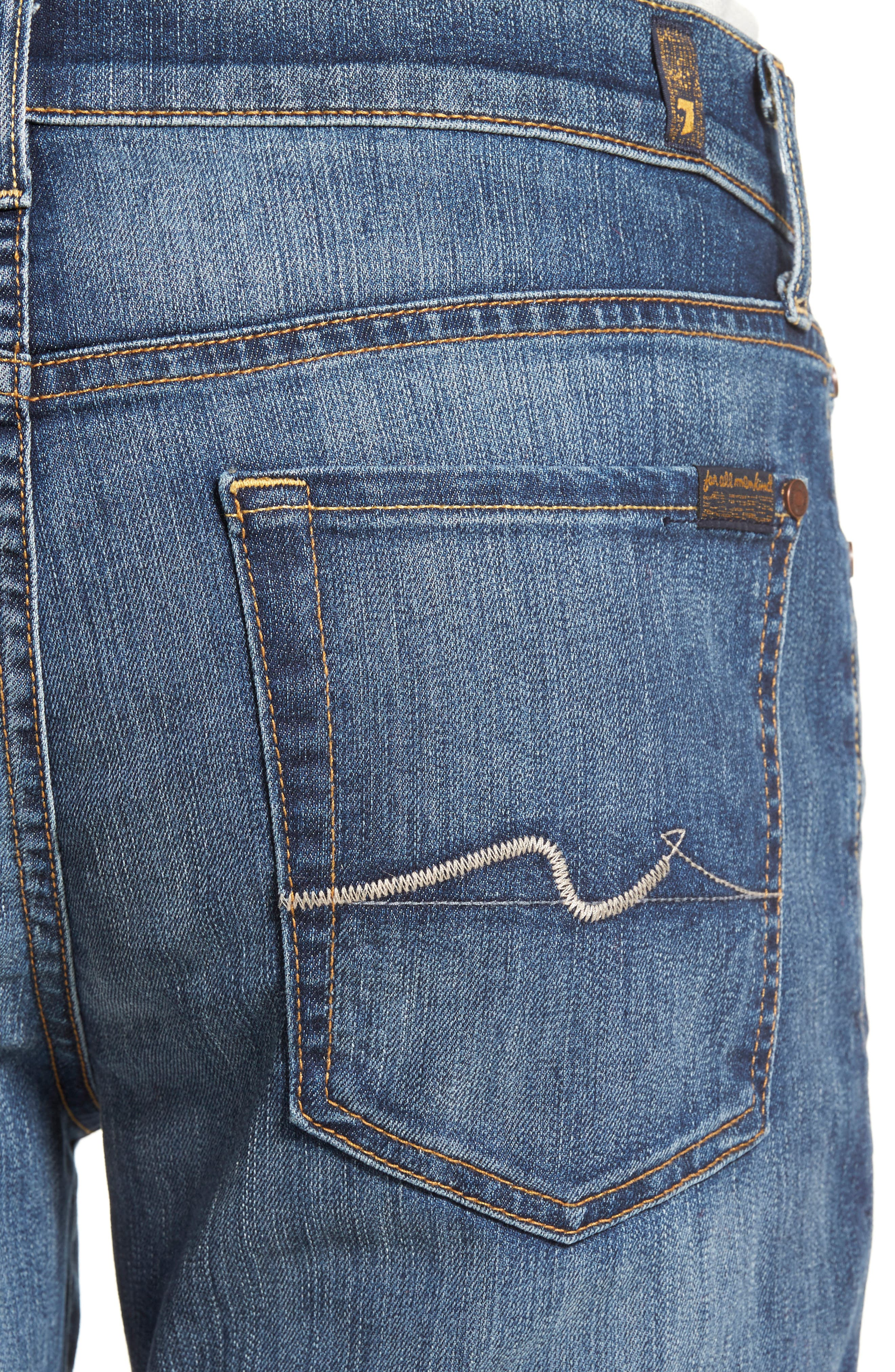 7 FOR ALL MANKIND<SUP>®</SUP>, 'Slimmy - Luxe Performance' Slim Fit Jeans, Alternate thumbnail 4, color, AIR WEFT COMMOTION