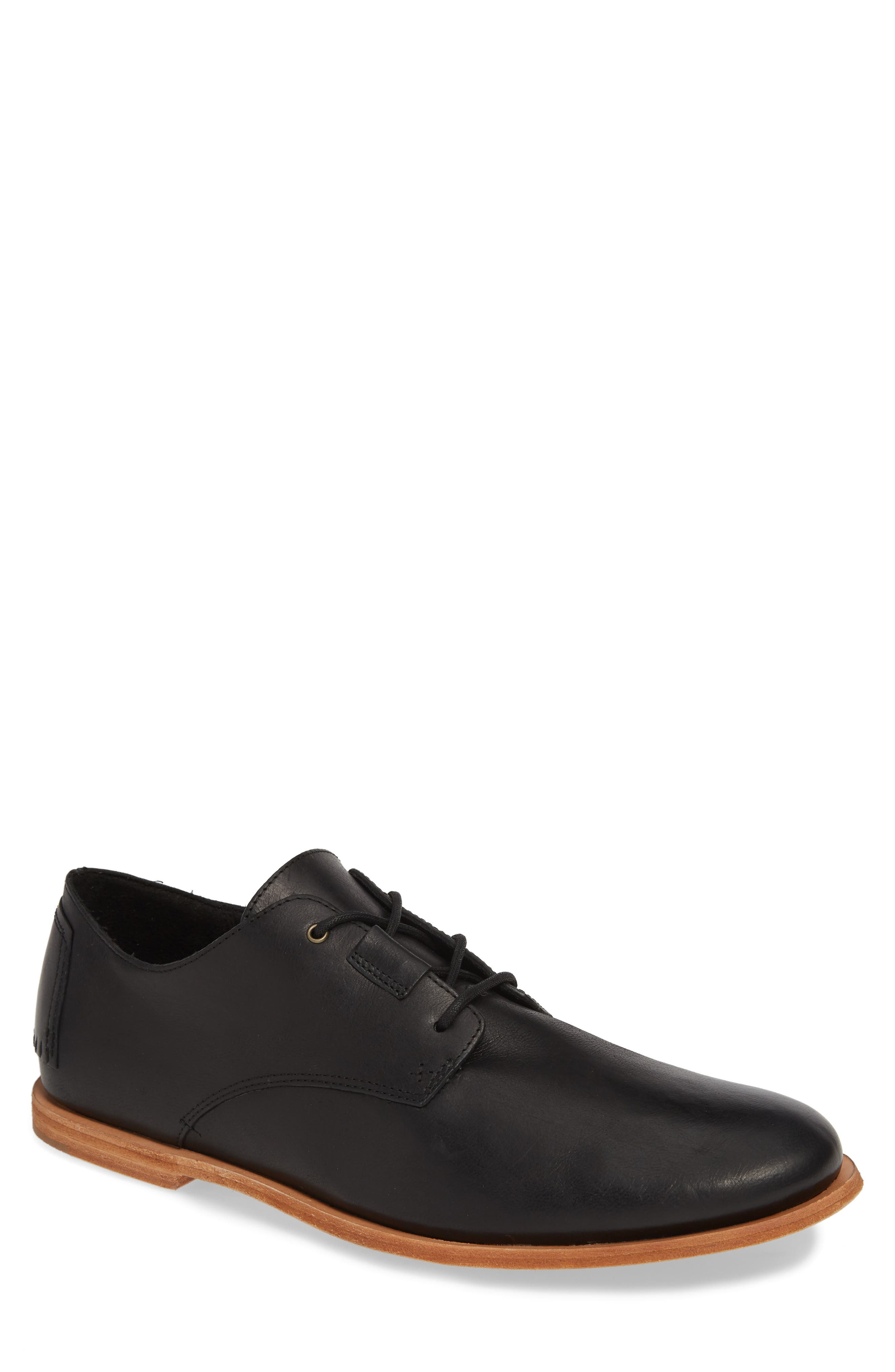 TIMBERLAND Taulk Point Plain Toe Derby, Main, color, BLACK LEATHER