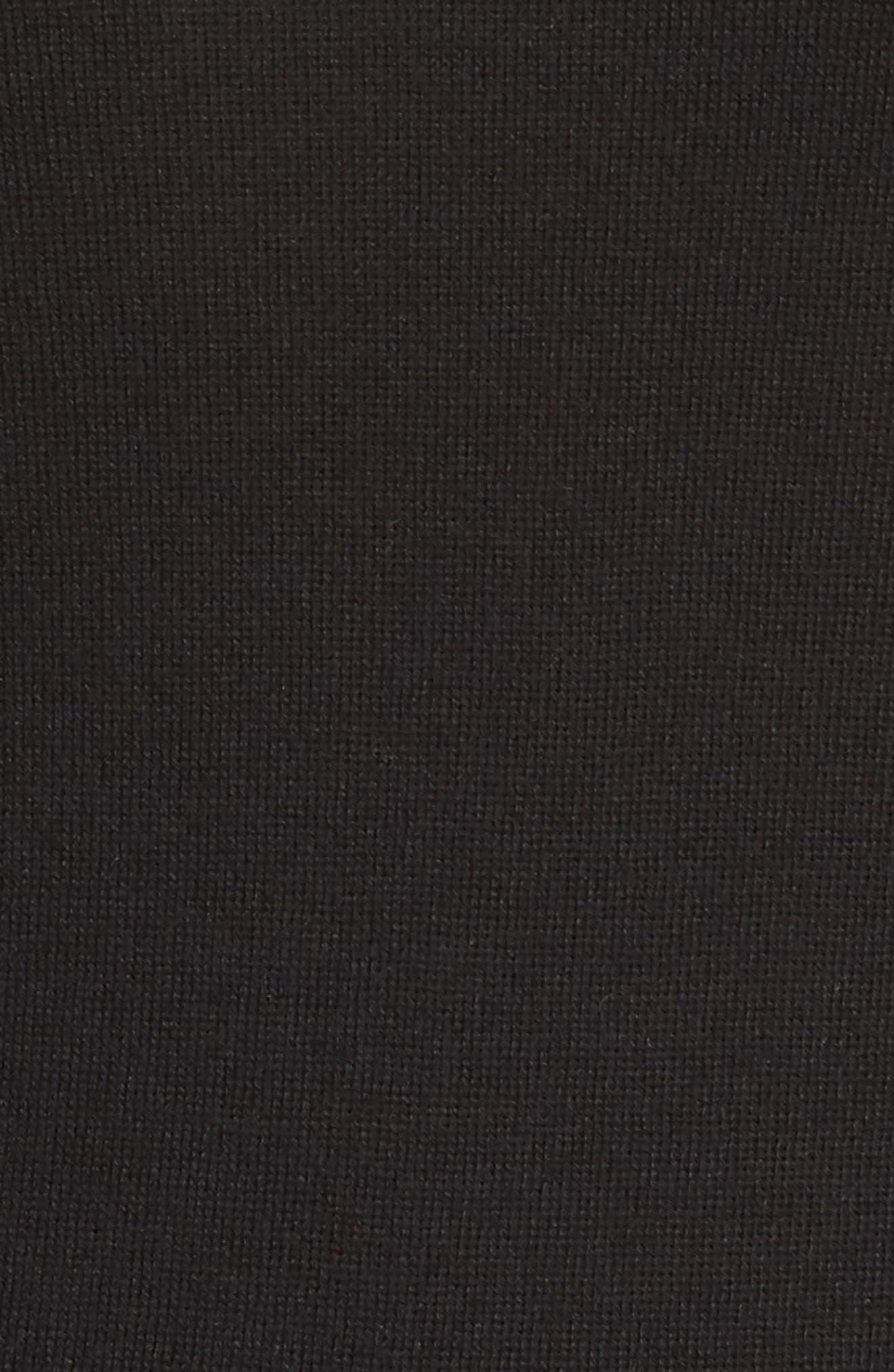 HALOGEN<SUP>®</SUP>, Delta Crewneck Sweater, Alternate thumbnail 5, color, BLACK