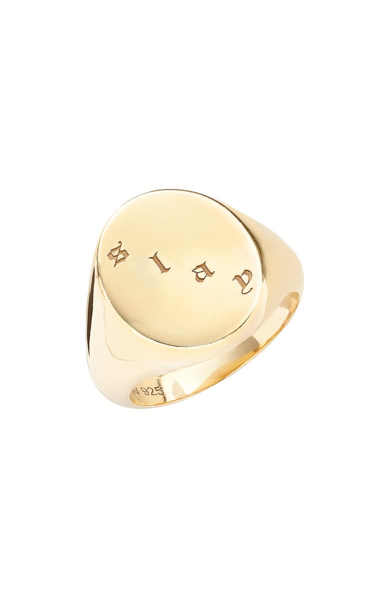 Argento Vivo Accessories X DRU. SLAY SIGNET RING (NORDSTROM EXCLUSIVE)