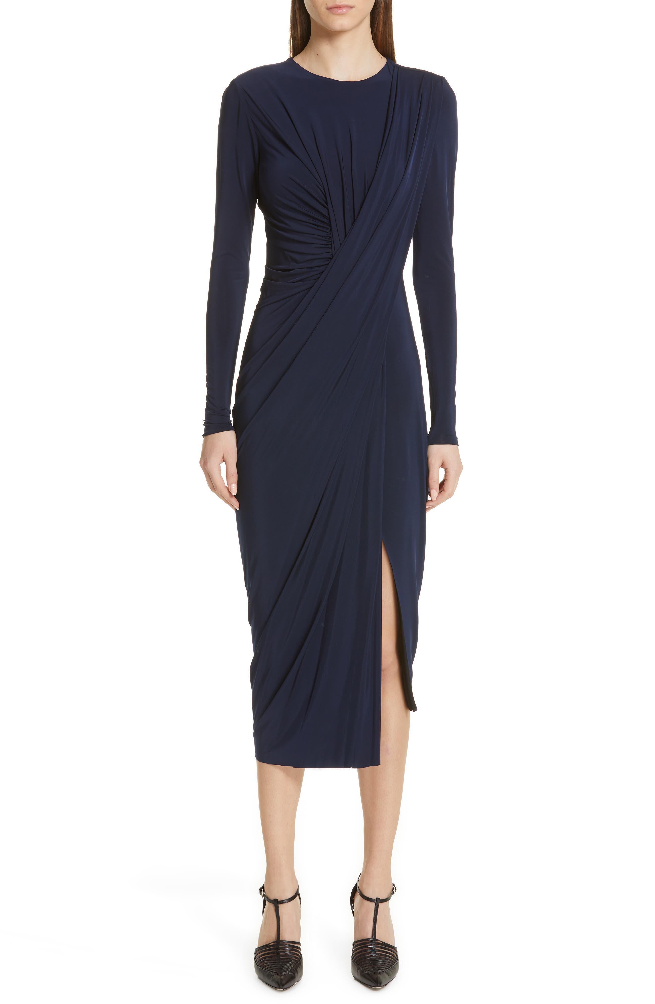 Jason Wu Collection Draped Jersey Dress, Blue