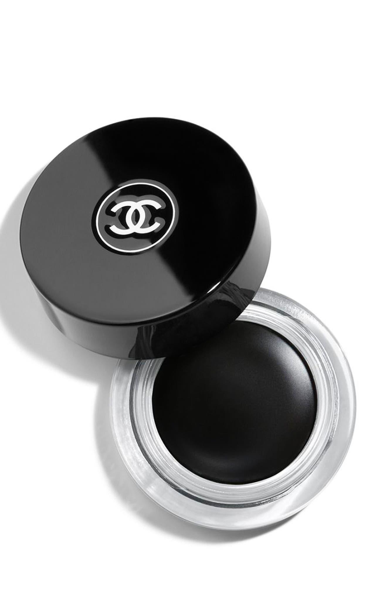 CHANEL CALLIGRAPHIE DE CHANEL<br />Longwear Intense Cream Eyeliner, Main, color, 65 HYPERBLACK