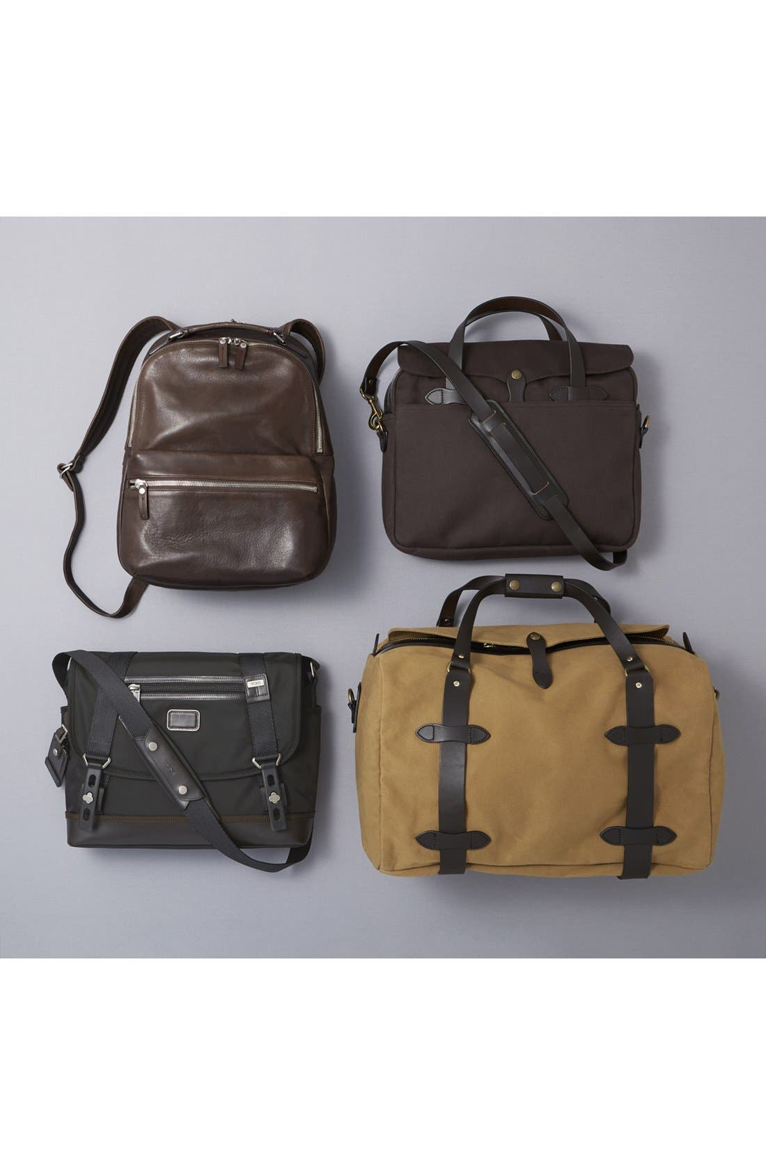 FILSON, Medium Duffle Bag, Alternate thumbnail 8, color, CINDER