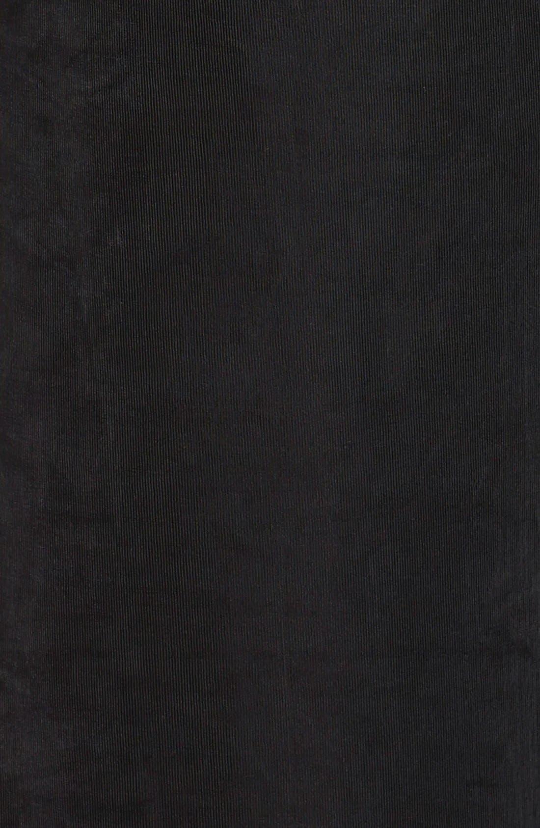 VIKKI VI, High Rise Stretch Knit Crop Pants, Alternate thumbnail 3, color, BLACK