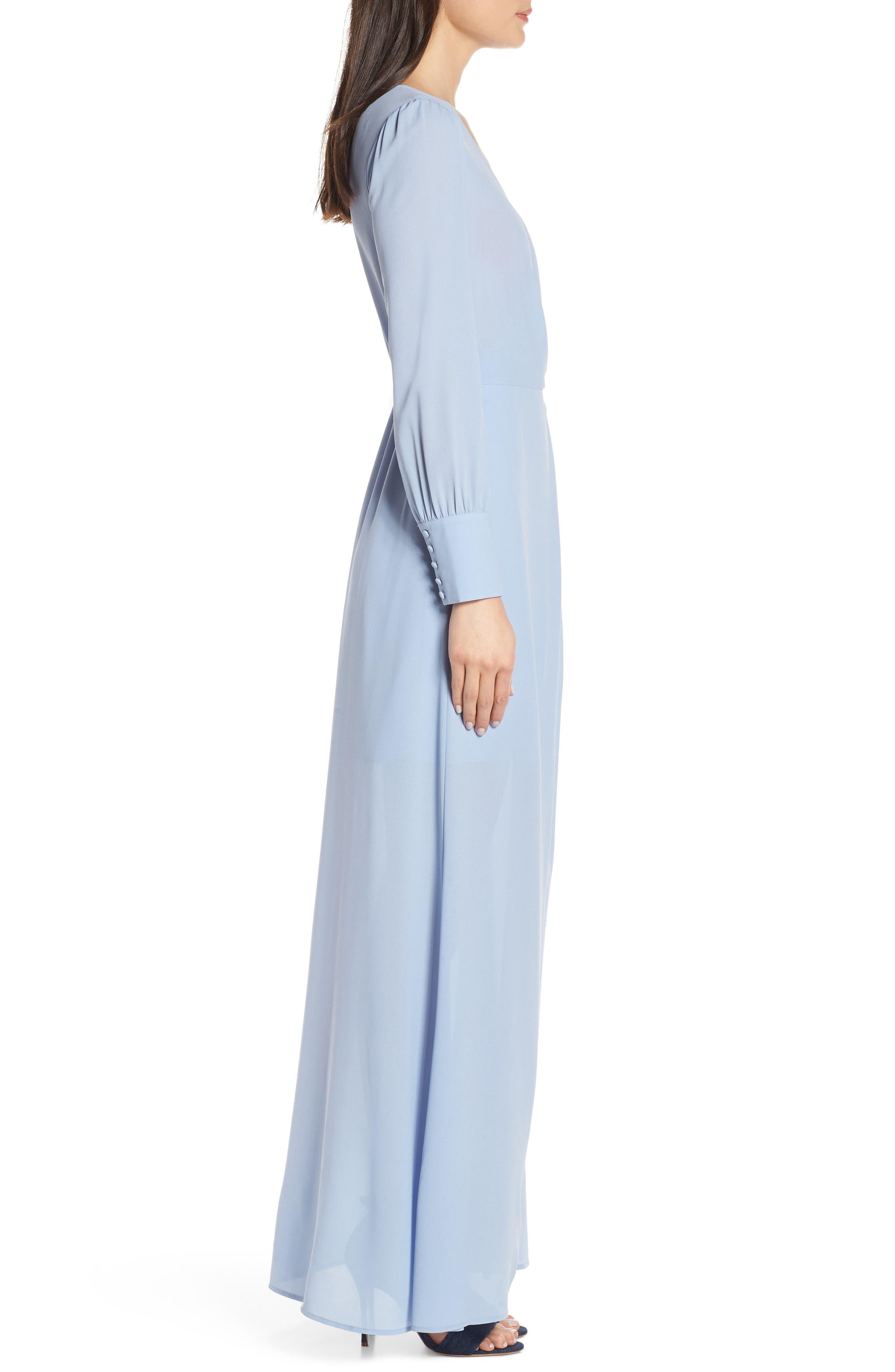 ALI & JAY, Garden Stroll Wrap Maxi Dress, Alternate thumbnail 4, color, 400