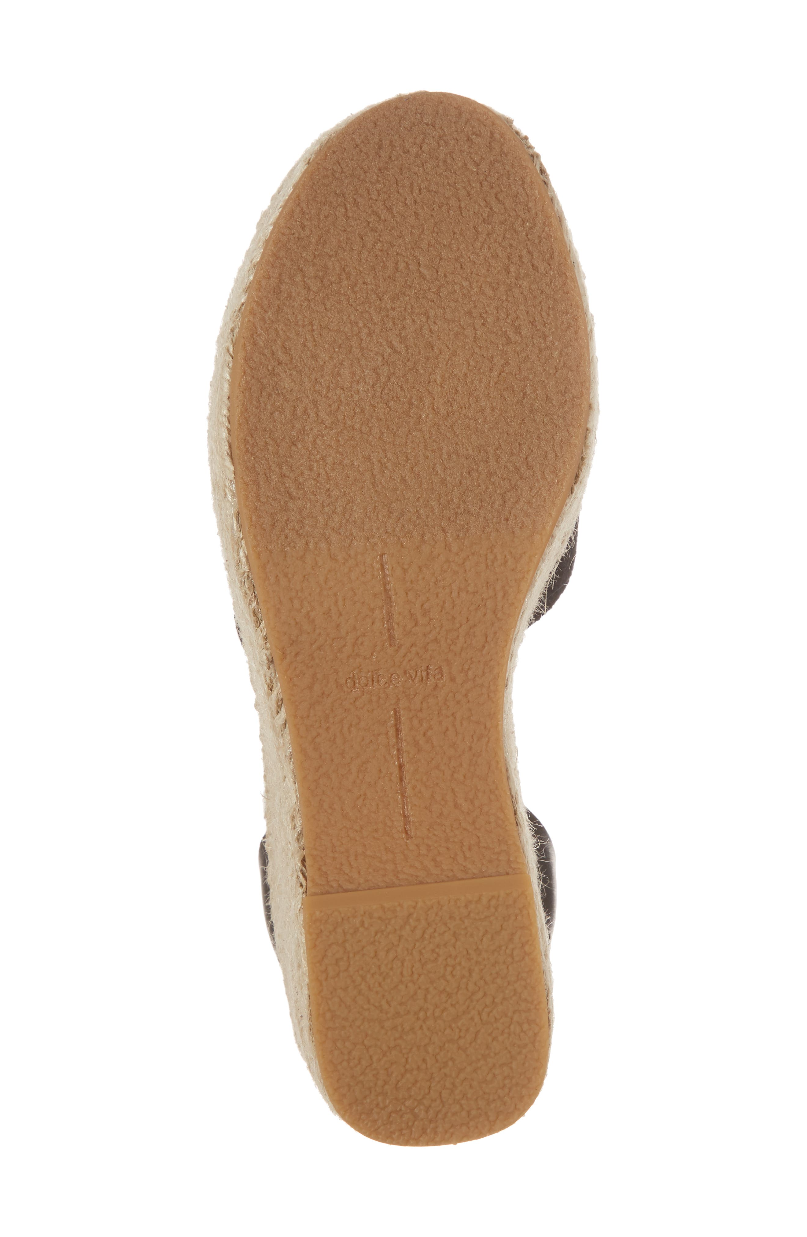 DOLCE VITA, Lesly Espadrille Platform Sandal, Alternate thumbnail 6, color, 001