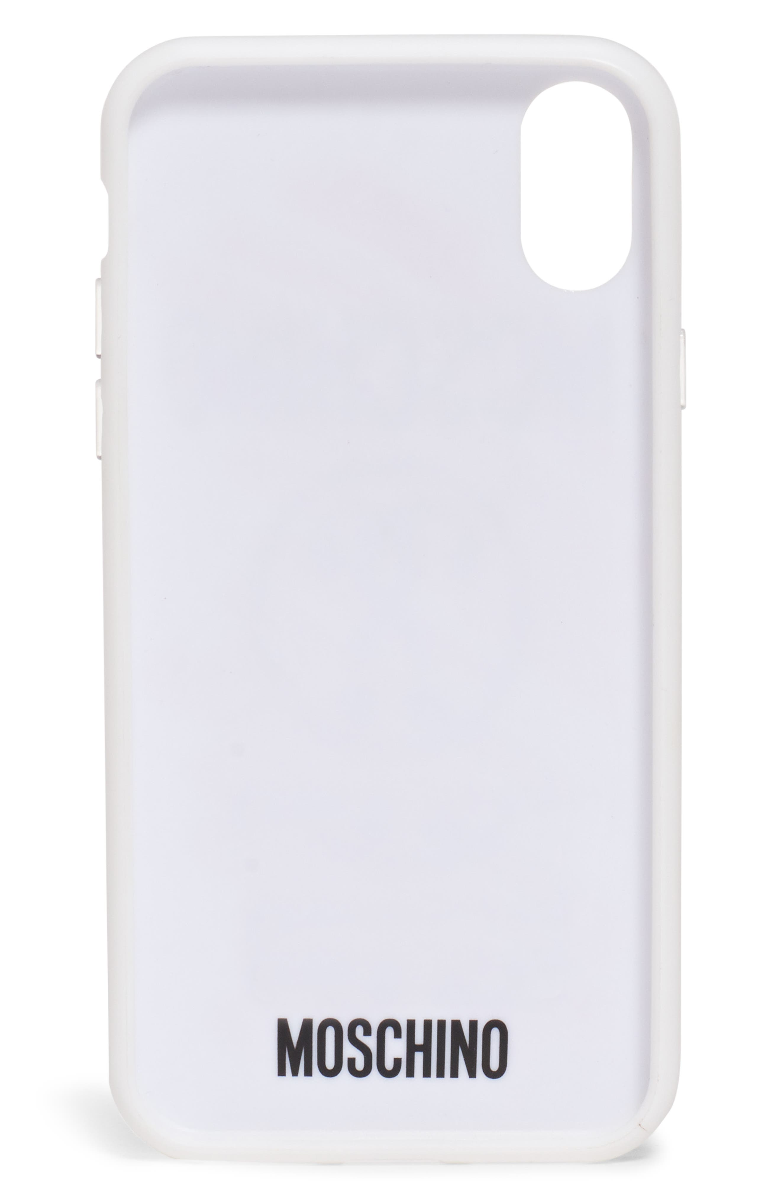 MOSCHINO, Scribble Logo iPhone Xs/Xs Max & XR Case, Alternate thumbnail 3, color, 100