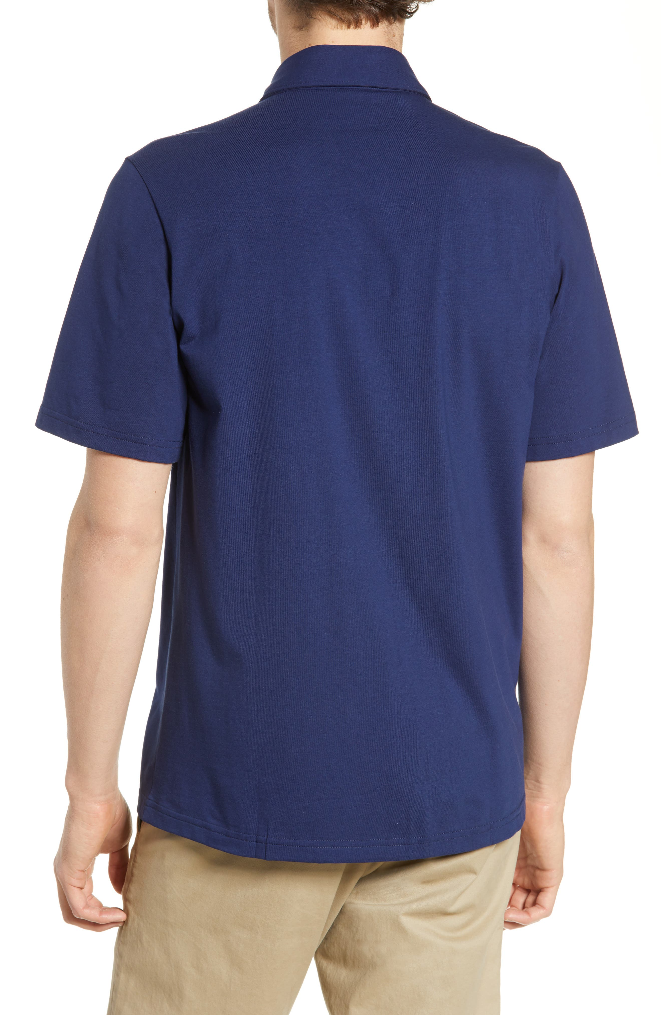 CRIQUET, Players Stretch Jersey Polo, Alternate thumbnail 2, color, NAVY