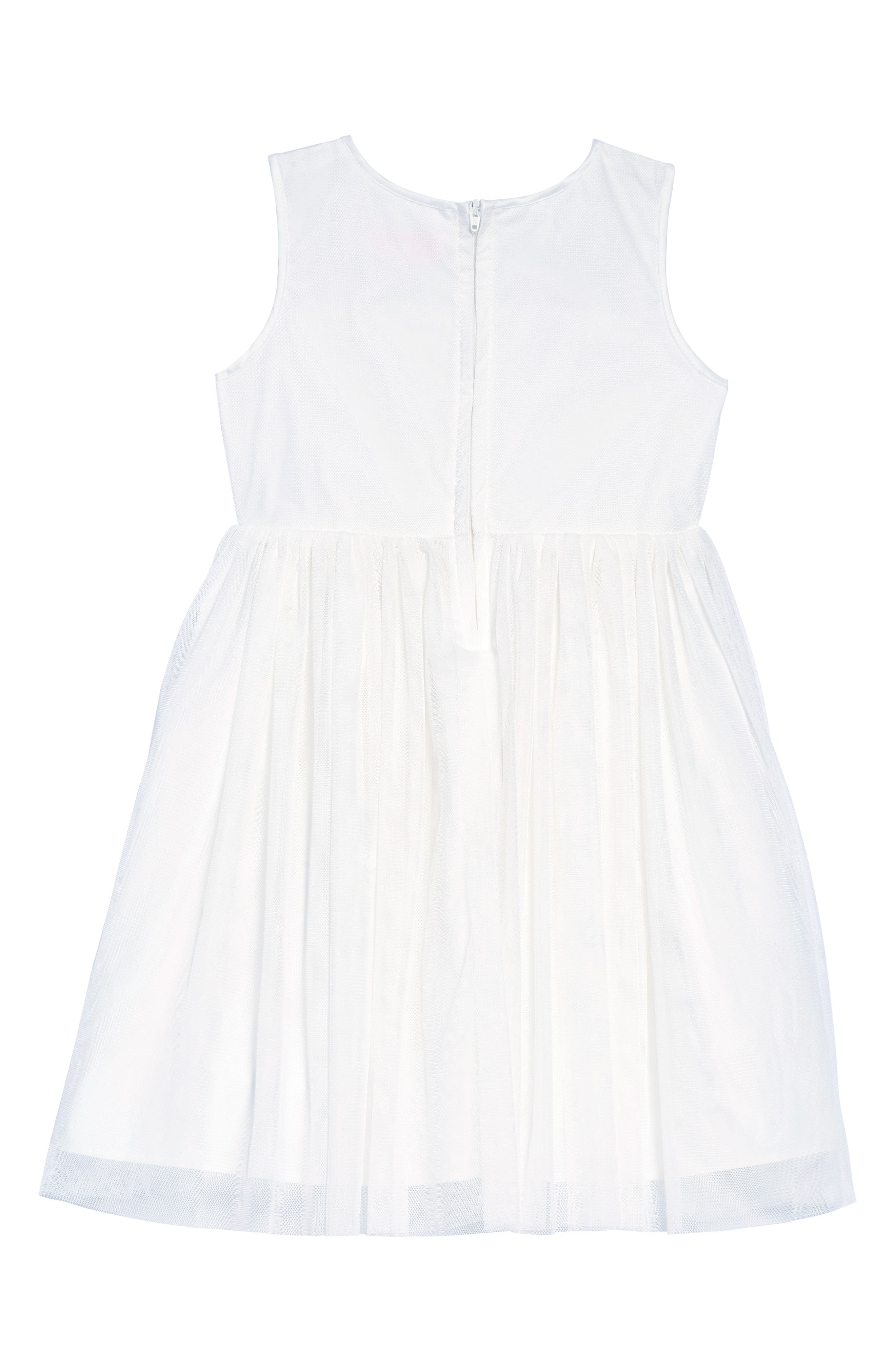 POPATU, Daisy Tulle Dress, Alternate thumbnail 2, color, WHITE