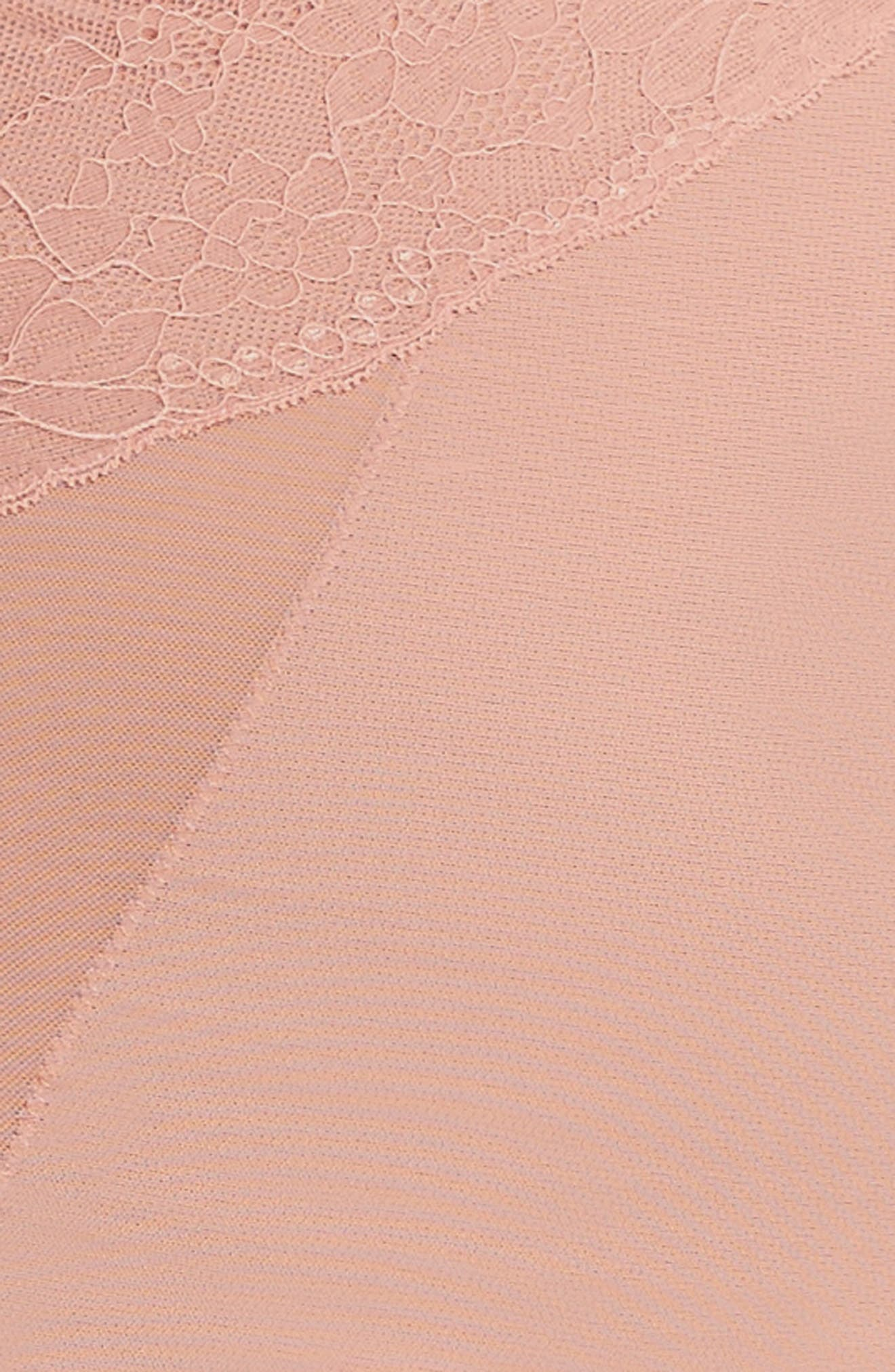 SPANX<SUP>®</SUP>, On Lace High Waist Briefs, Alternate thumbnail 4, color, VINTAGE ROSE