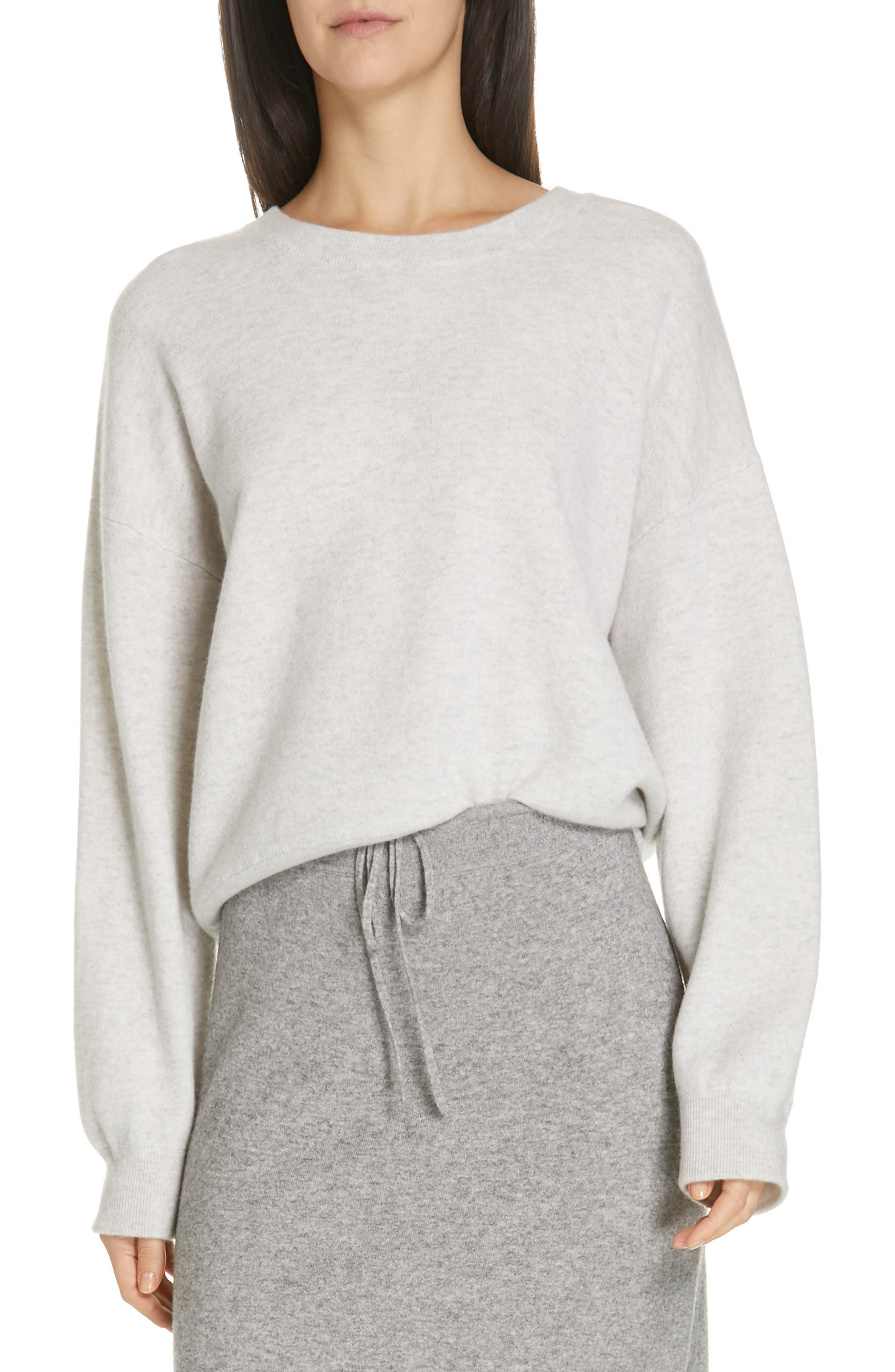 VINCE Double Layer Sweater, Main, color, H CLOUD/ OPTIC WHITE