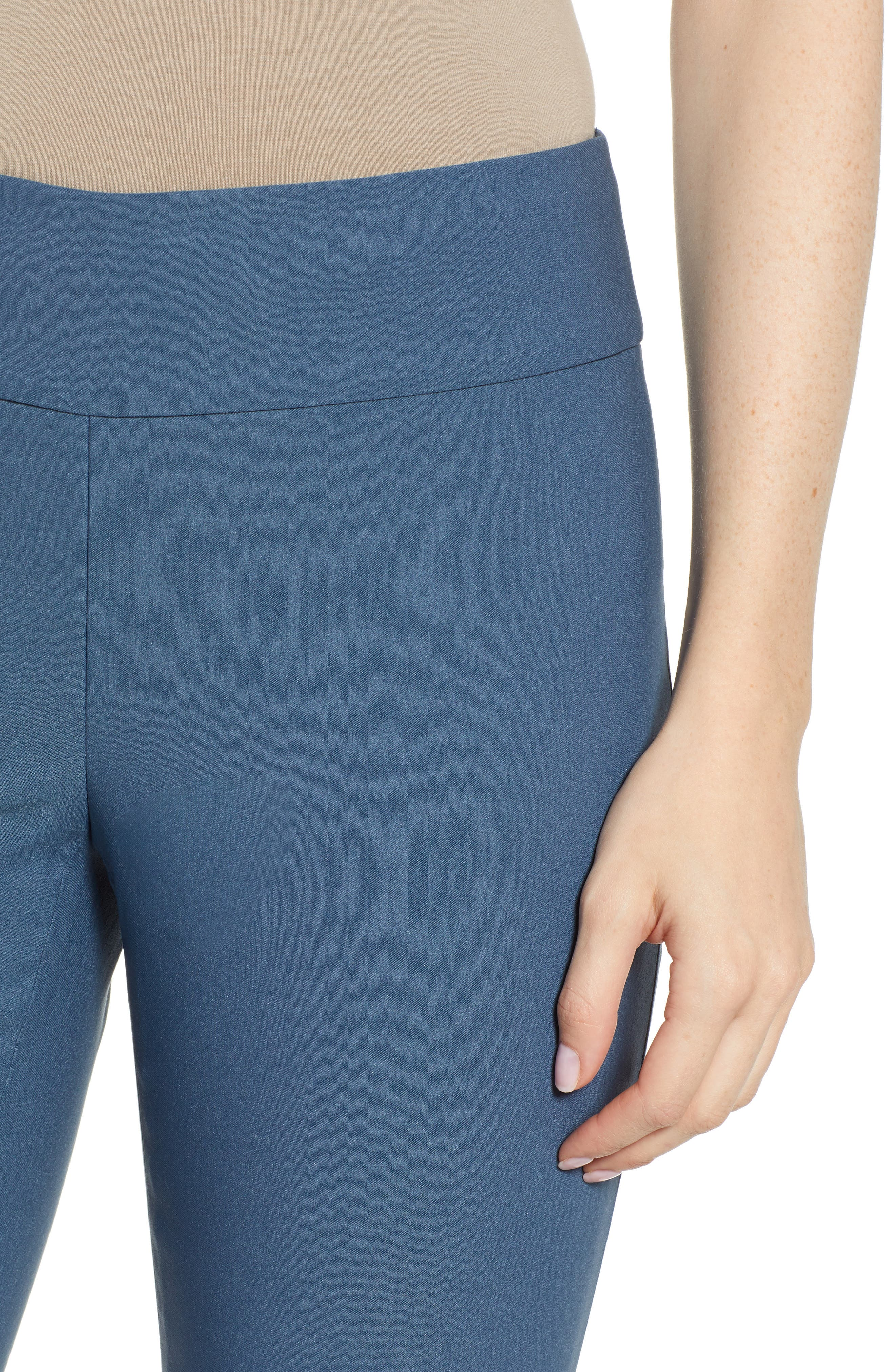 NIC+ZOE, Wonderstretch Straight Leg Pants, Alternate thumbnail 5, color, INDIGO SEA